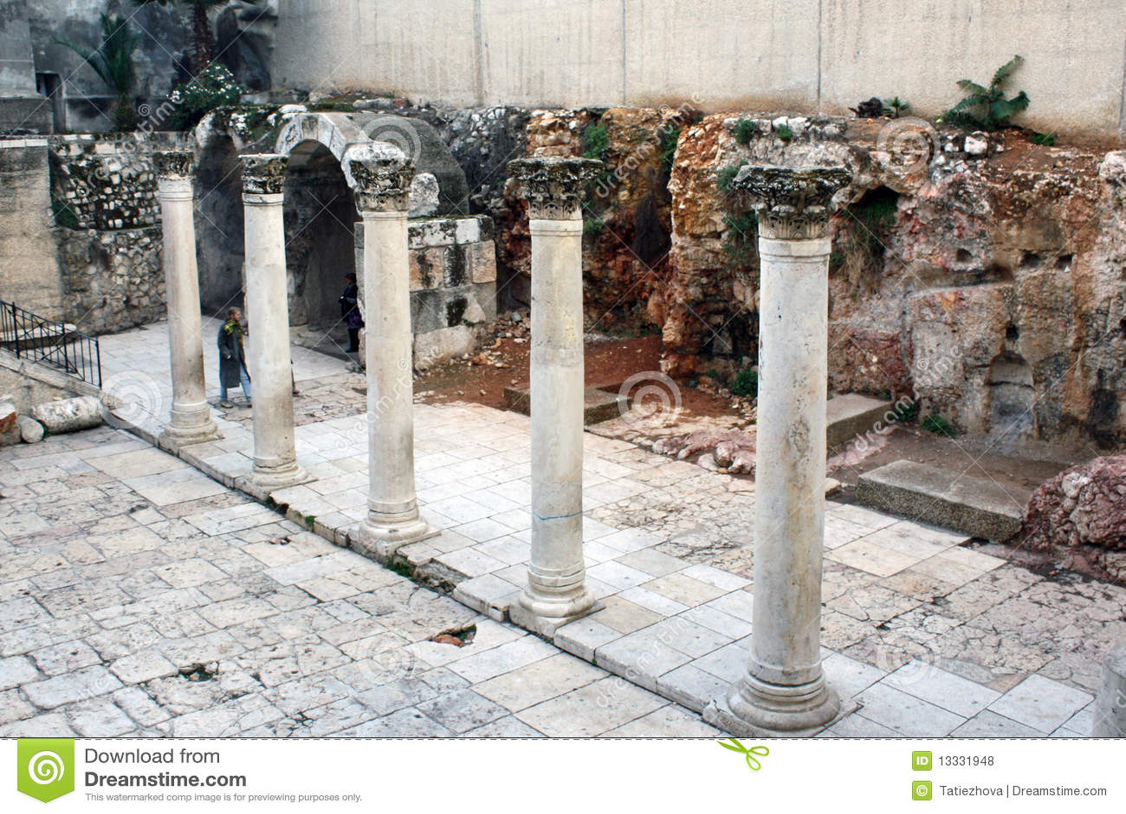 Antyczne Israel jerusalim ruiny