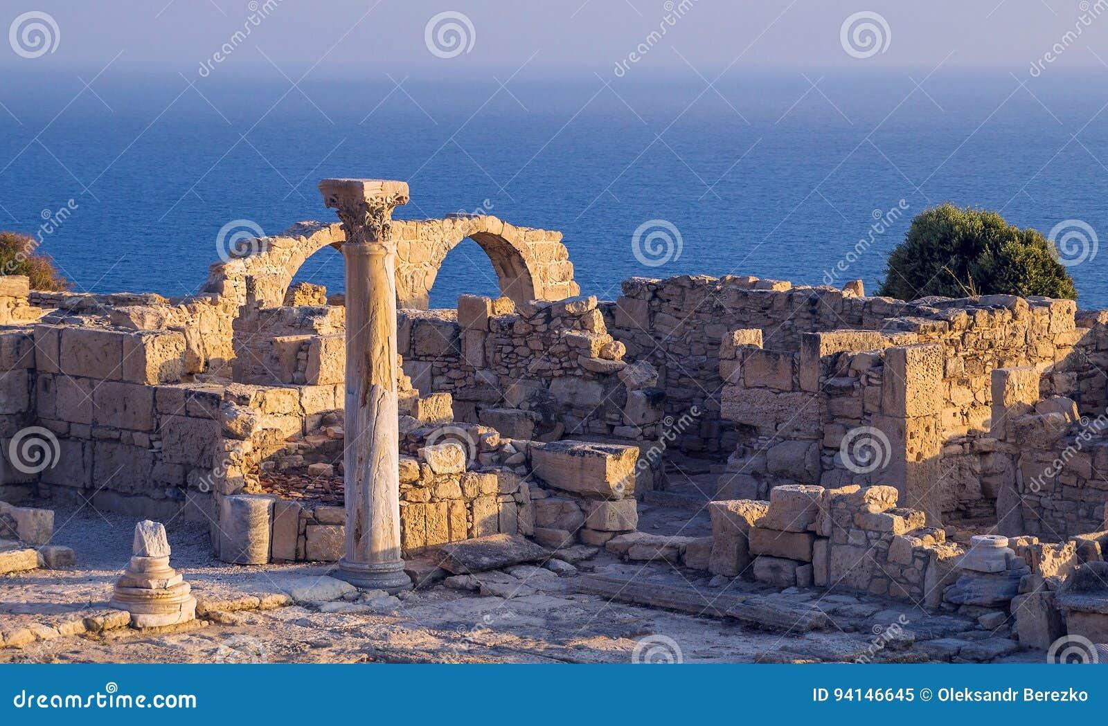 Antyczne ruiny przy Kourion, Cypr