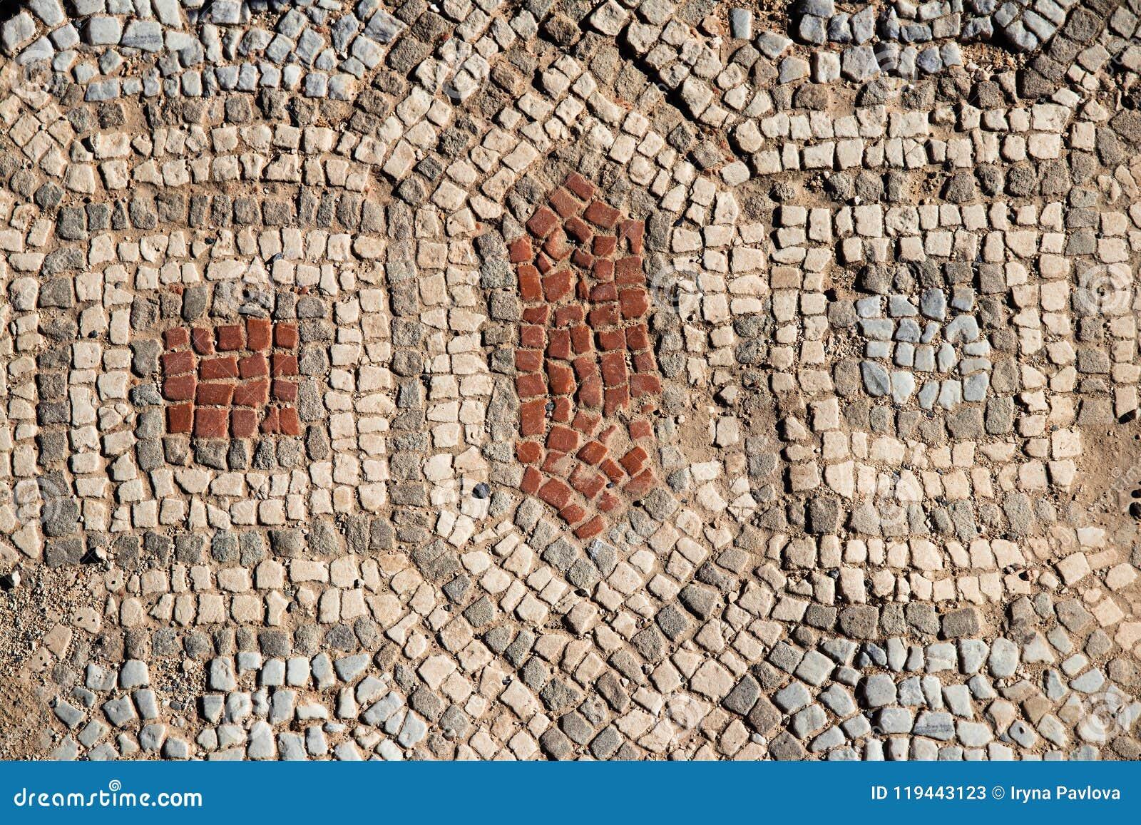 Antyczny antykwarski Grecki mozaika czerep