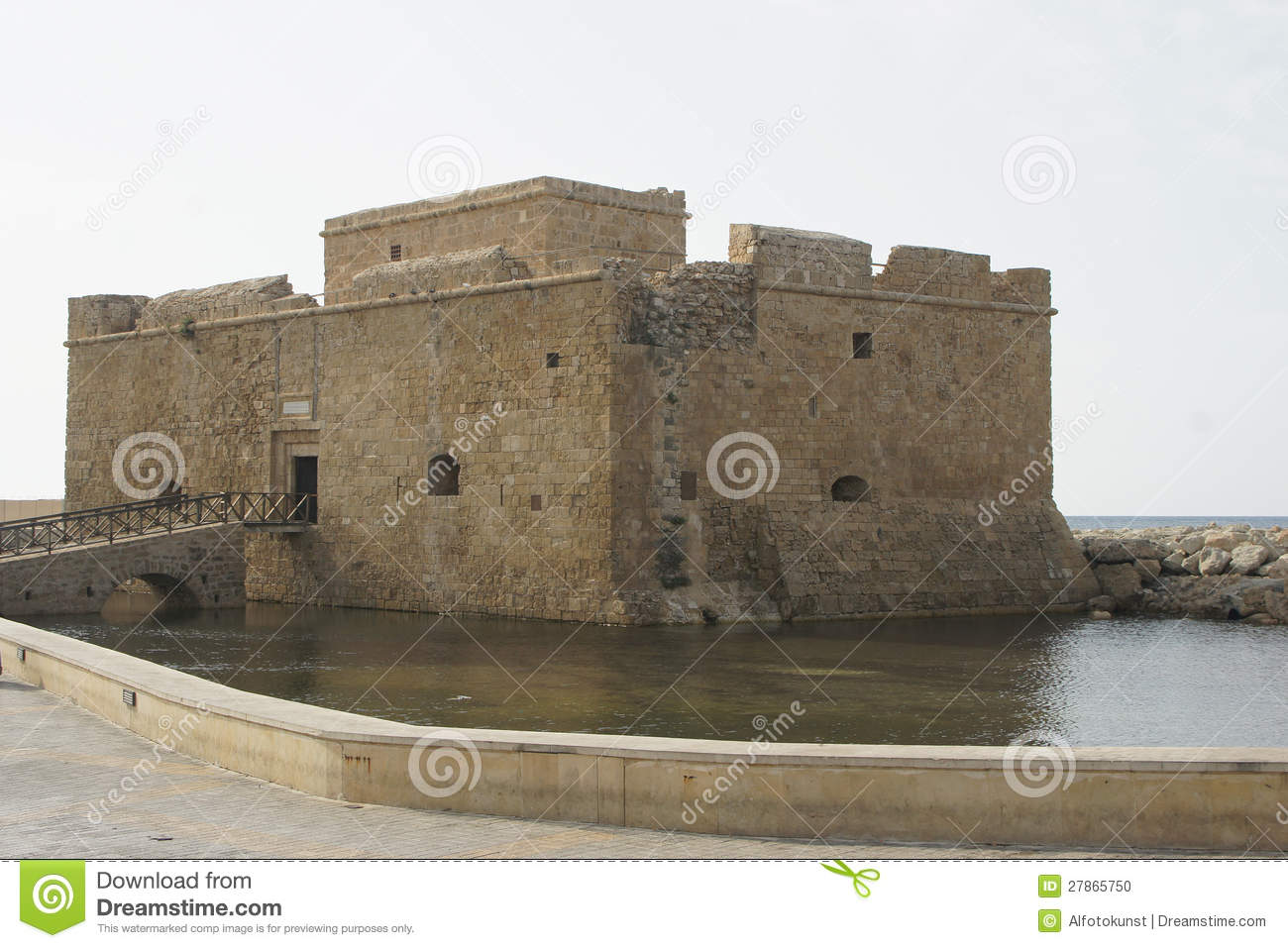 Antyczny Fort, Pafos, Cypr, Europa