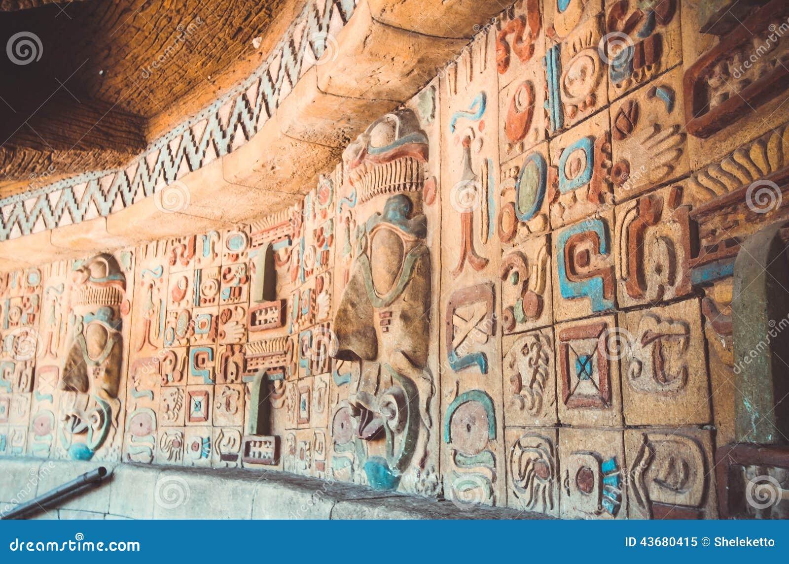 Antyczny majowia i aztecs wzór
