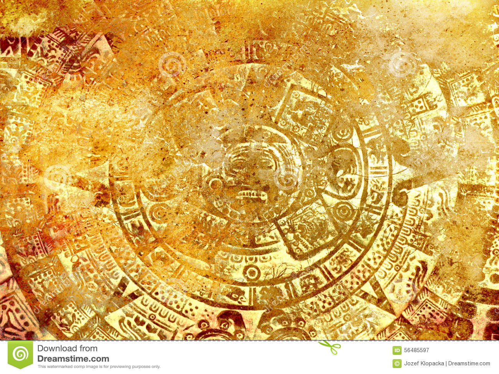 Antyczny Majski kalendarz, abstrakcjonistyczny koloru tło