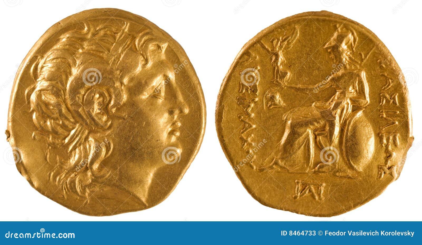Antyczny menniczy złoto Greece