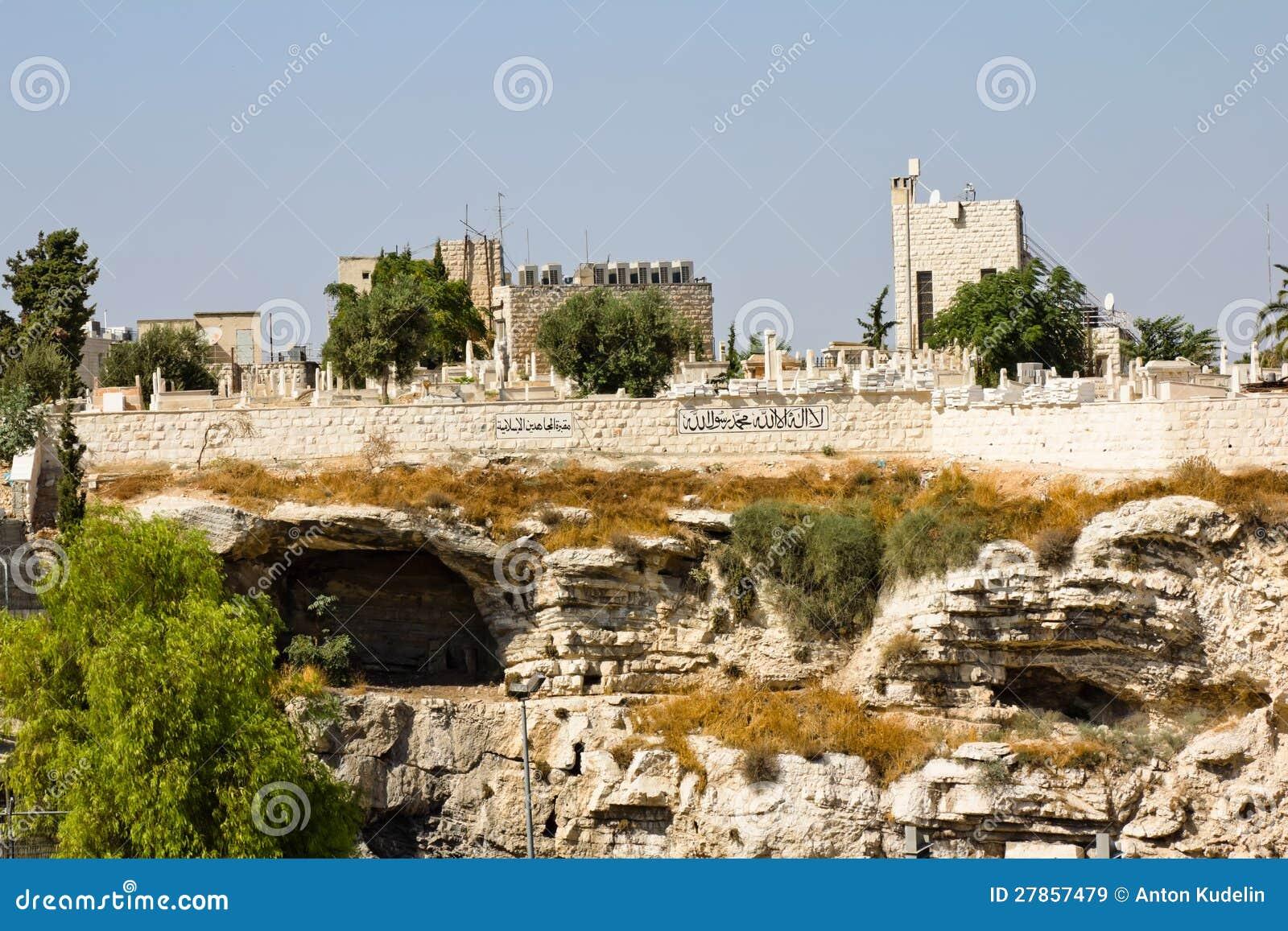 Antyczny Muzułmański cmentarz. Jerozolima