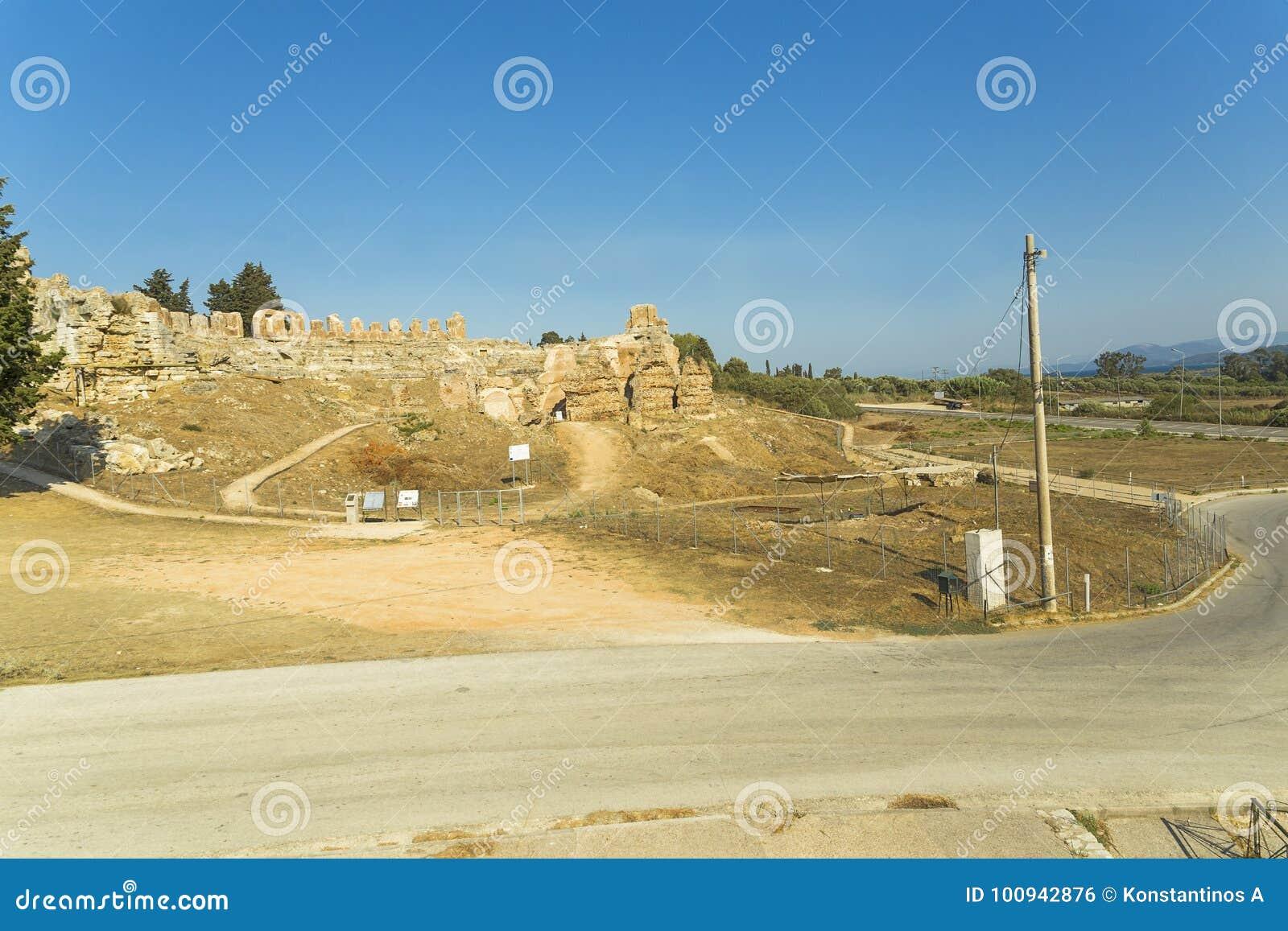 Antyczny rzymski teatr w Nikopolis Preveza Greece