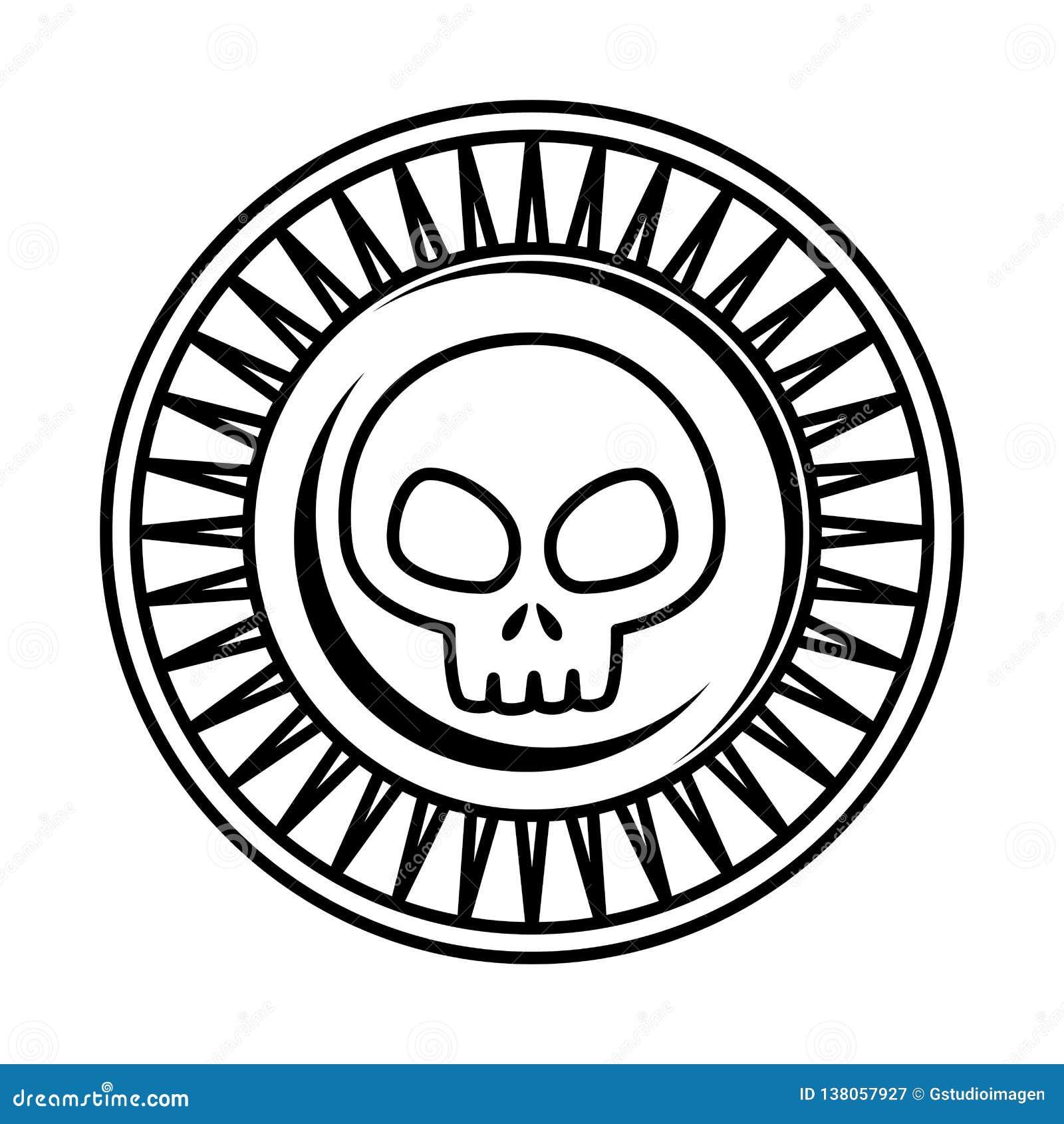 Antyk moneta z czaszką