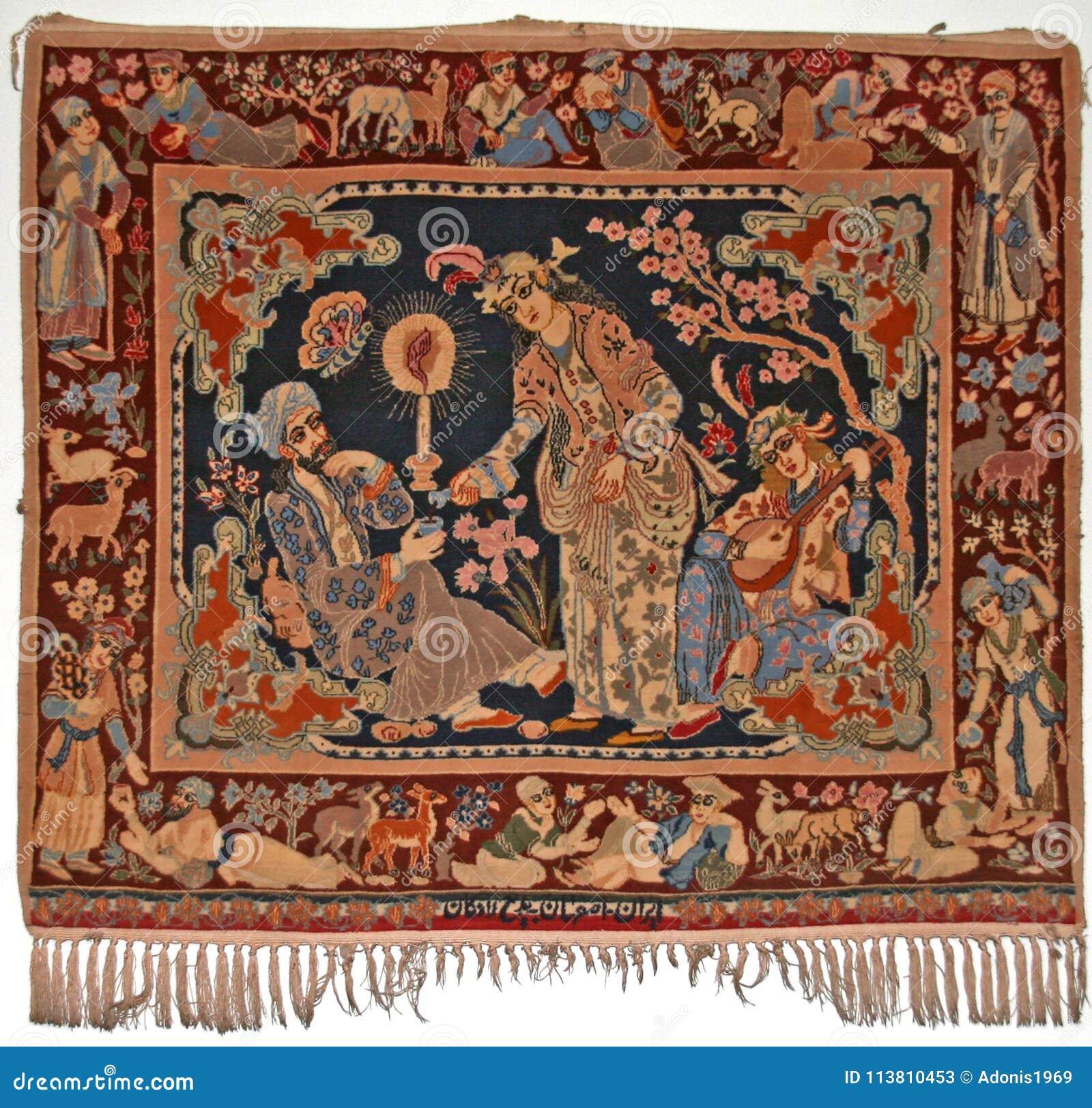 Antyka ścienny dywanik