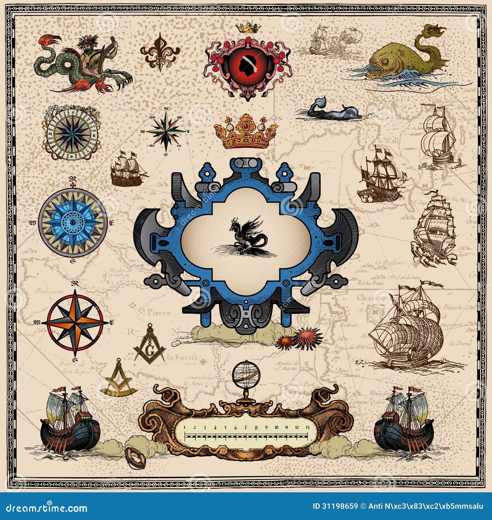 Antykwarscy mapa elementy