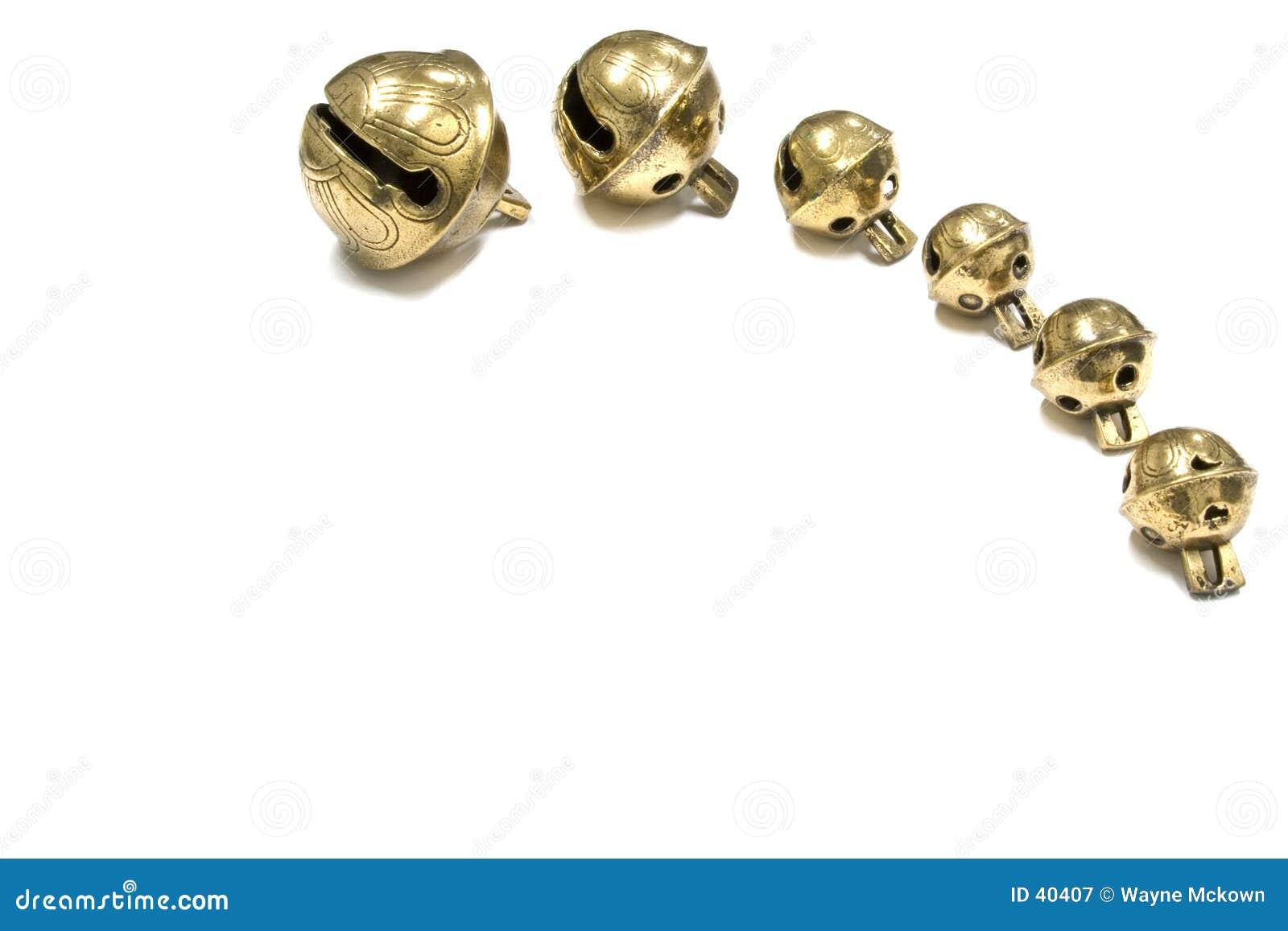 Antykwarscy sześć sań dzwony