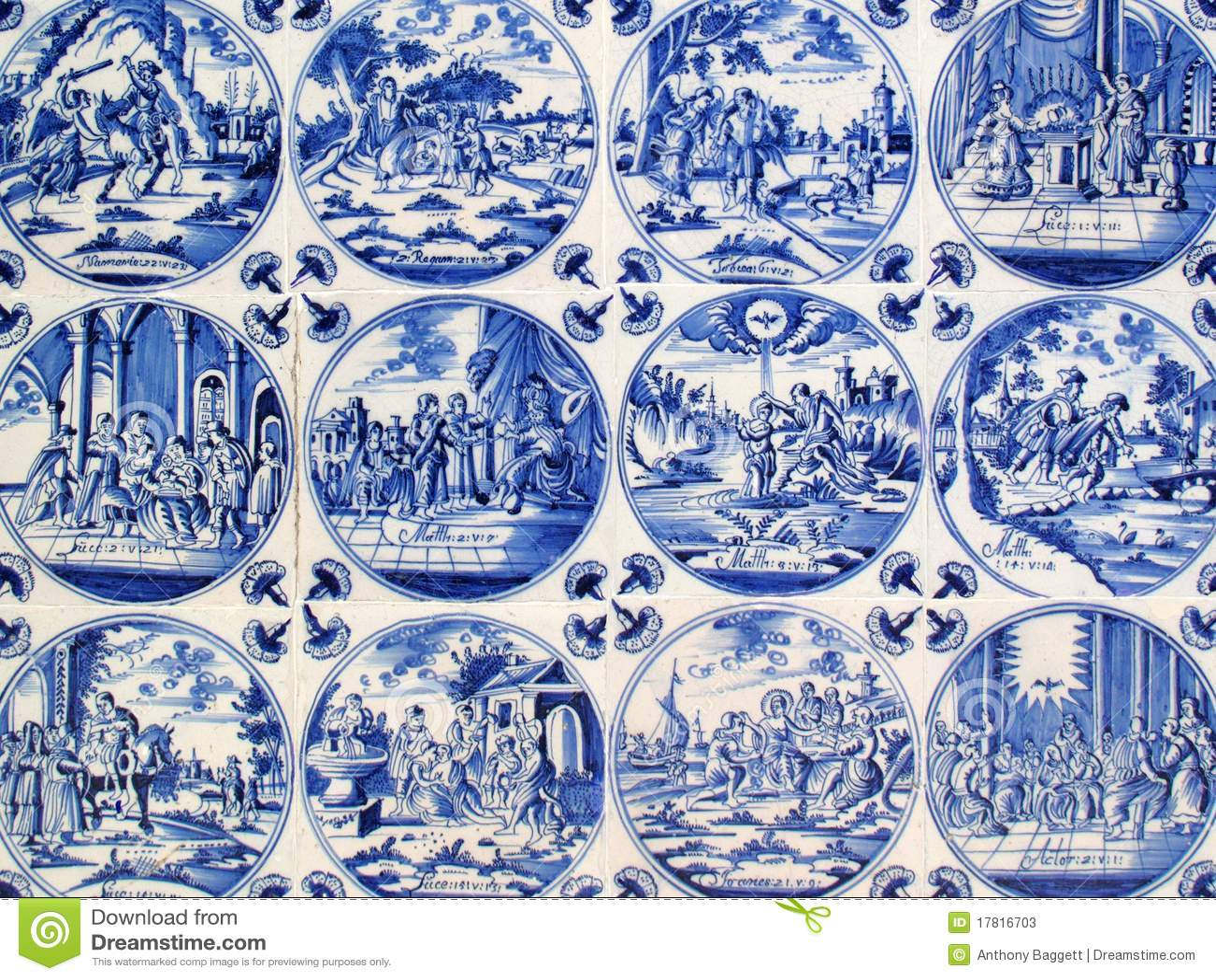Antykwarska Delft płytek ściana