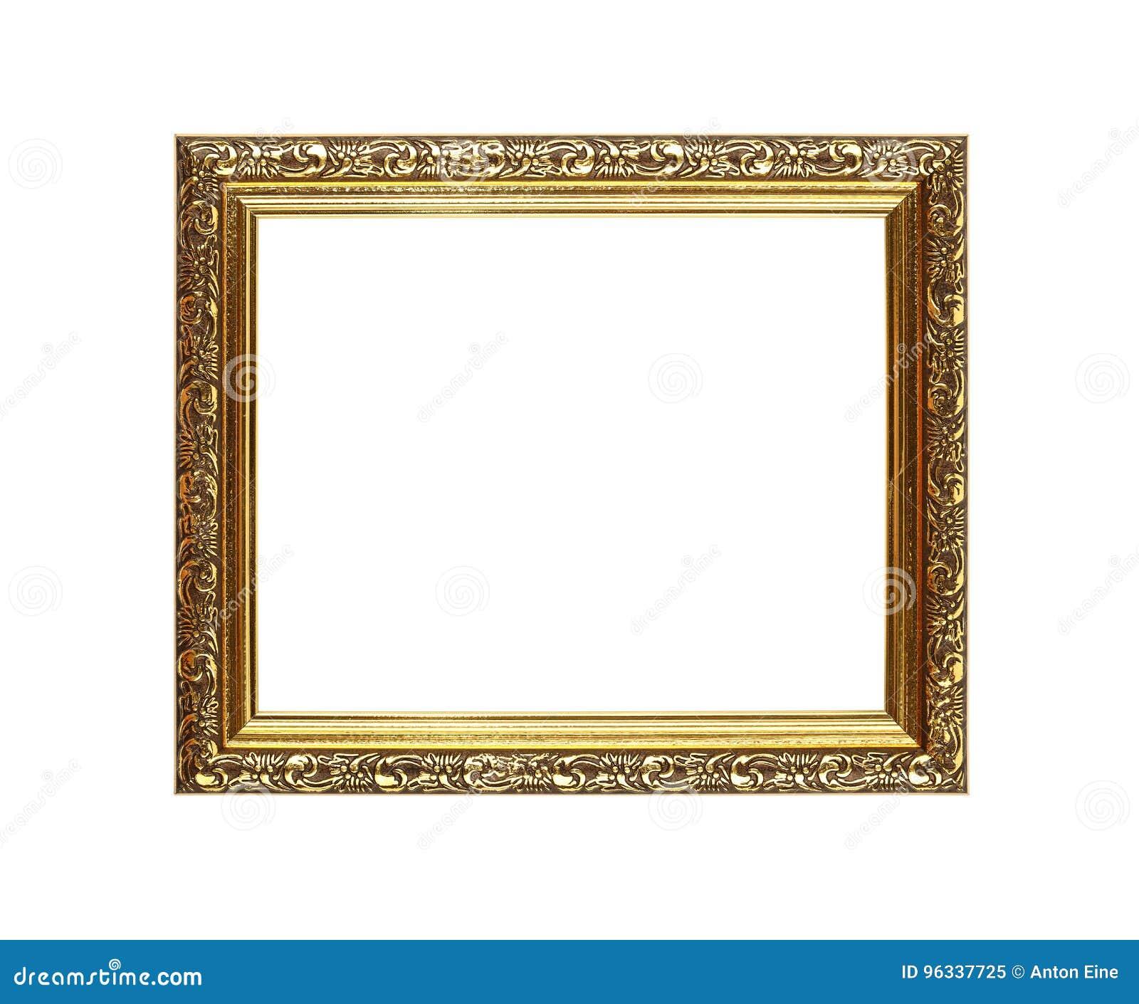 Antykwarska ozdobna złota obrazka lub fotografii rama