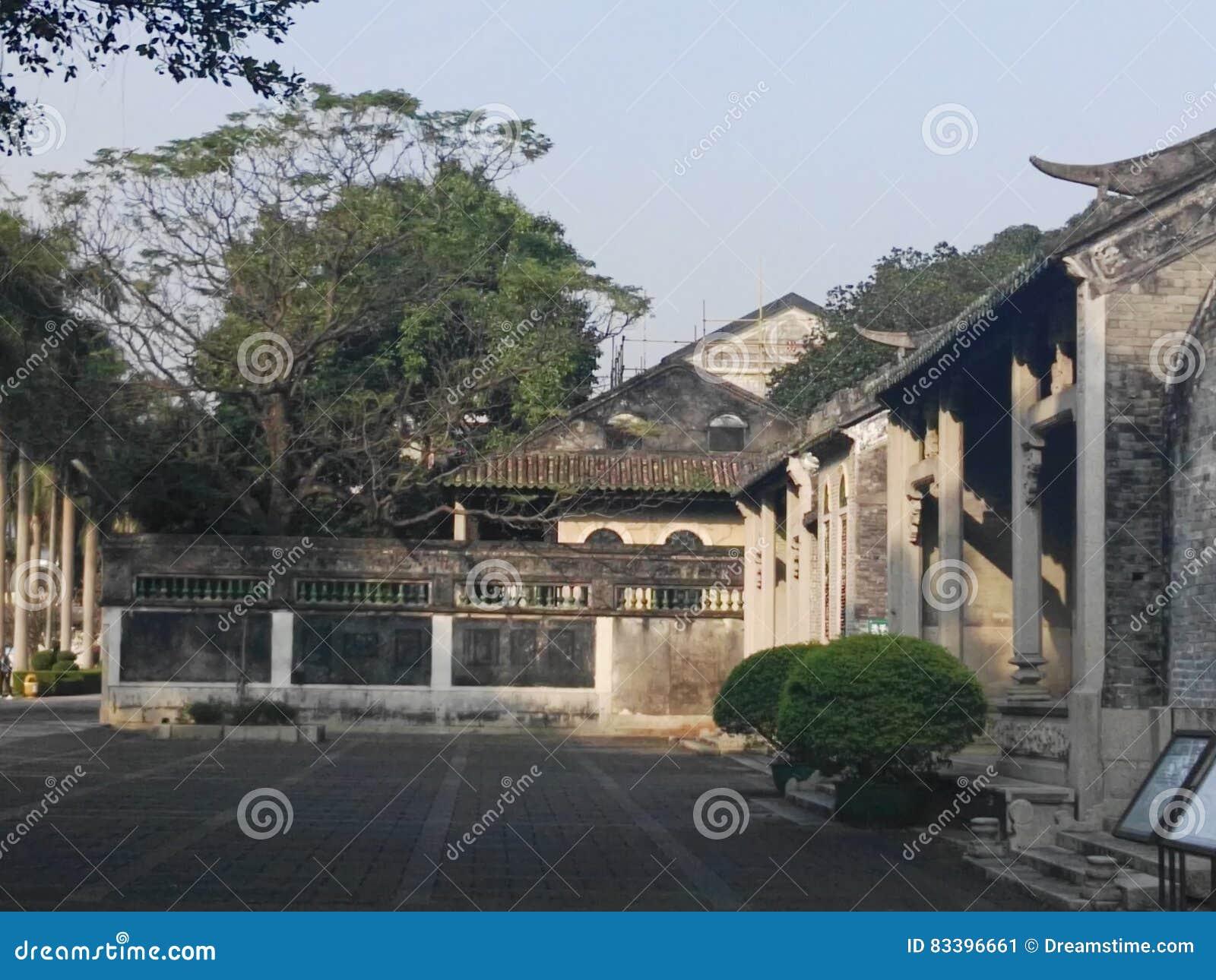 Antykwarski Chiński podwórze