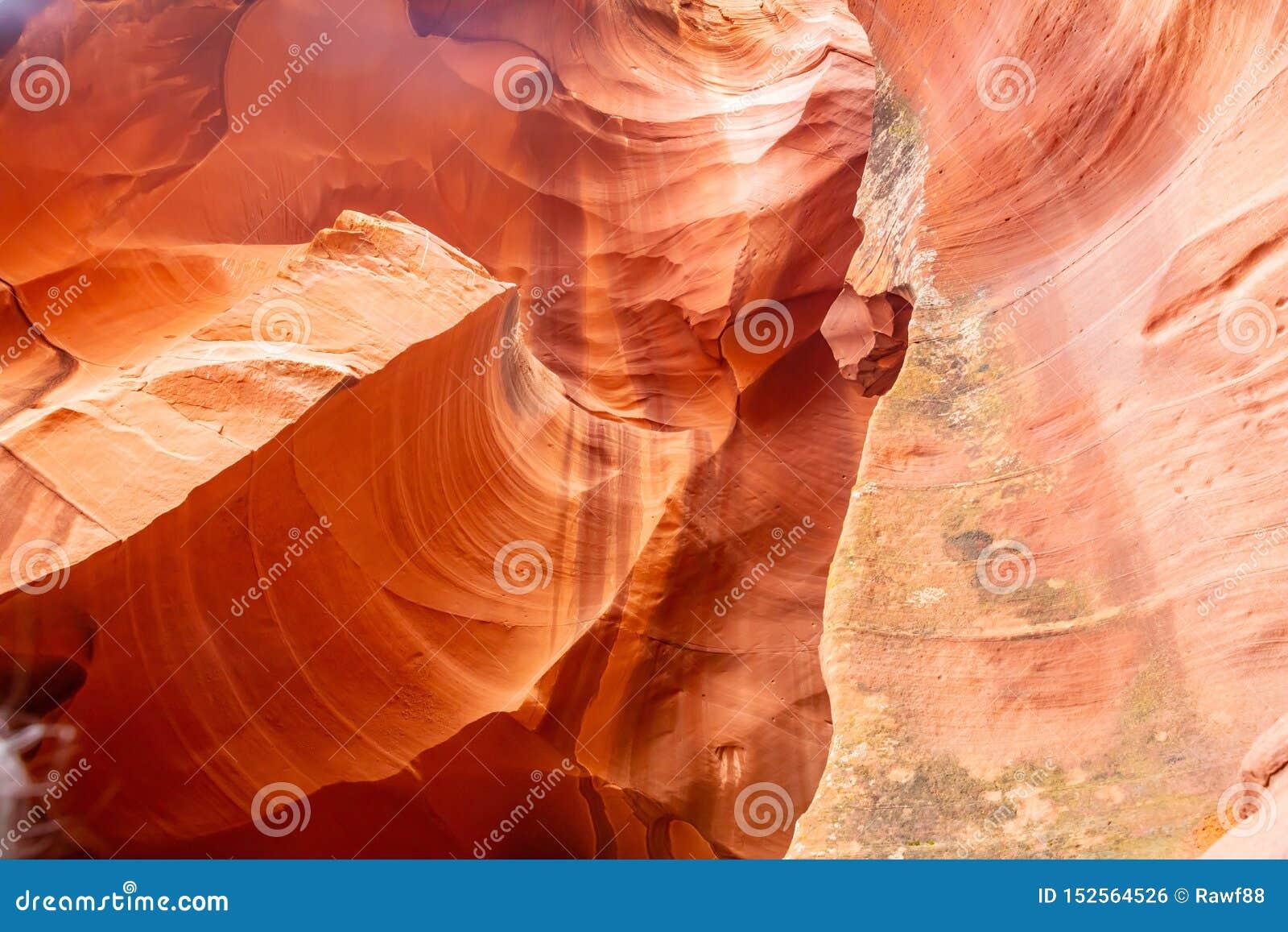 Antylopa jar blisko strony, Arizona, usa Piaskowcowe formacje na Navajo narodzie