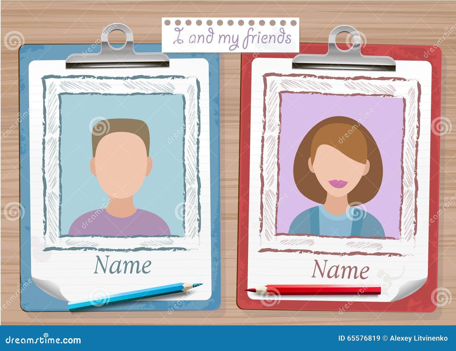 Anuário e notas da escola com duas fotos