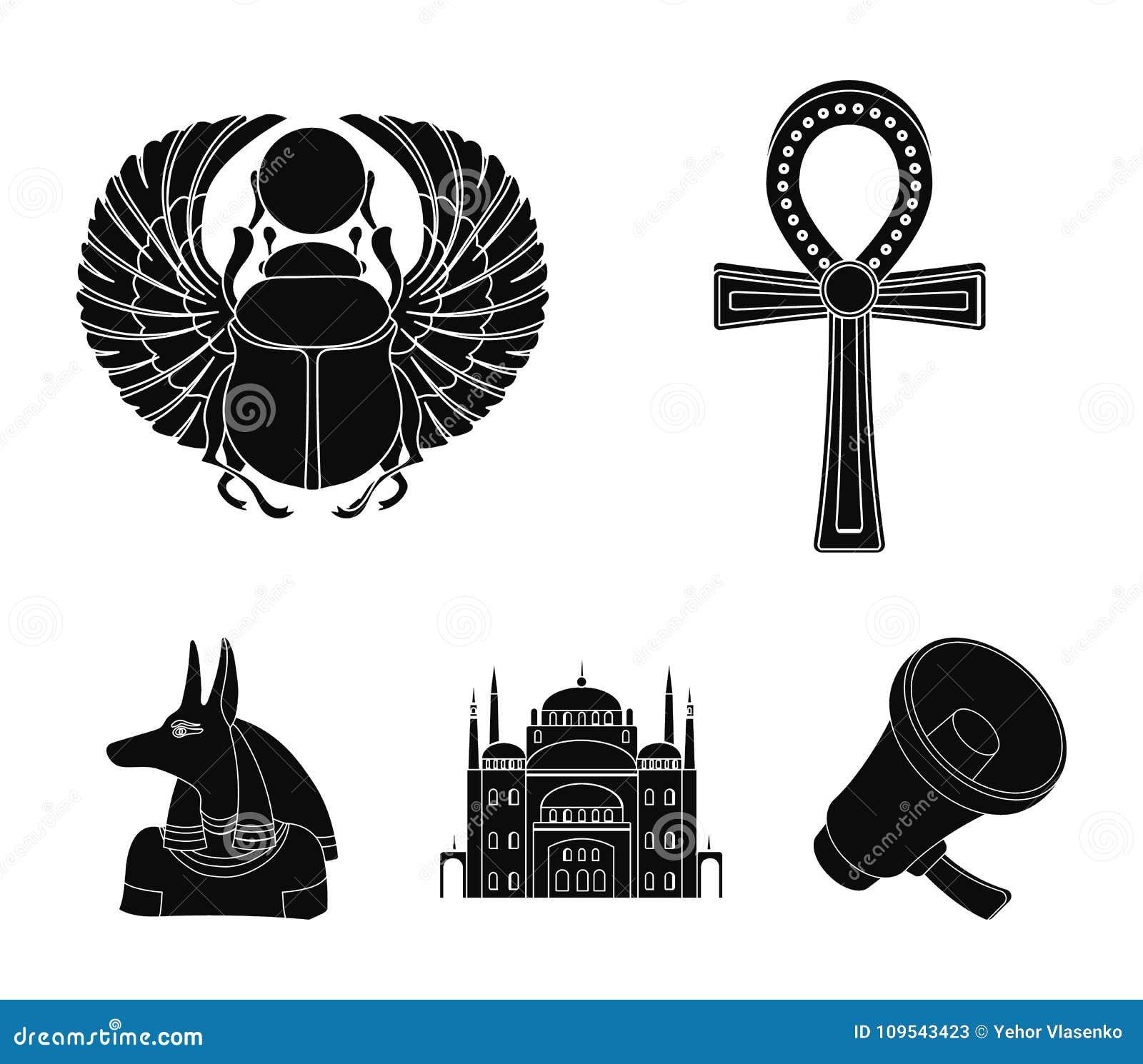 Anubis, Ankh, Cairo Citadel, Egyptian Beetle Ancient Egypt Set