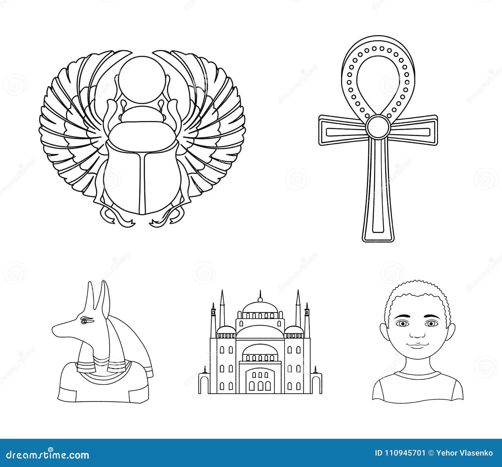 Anubis Ankh Cairo Citadel Egyptian Beetlecient Egypt Set