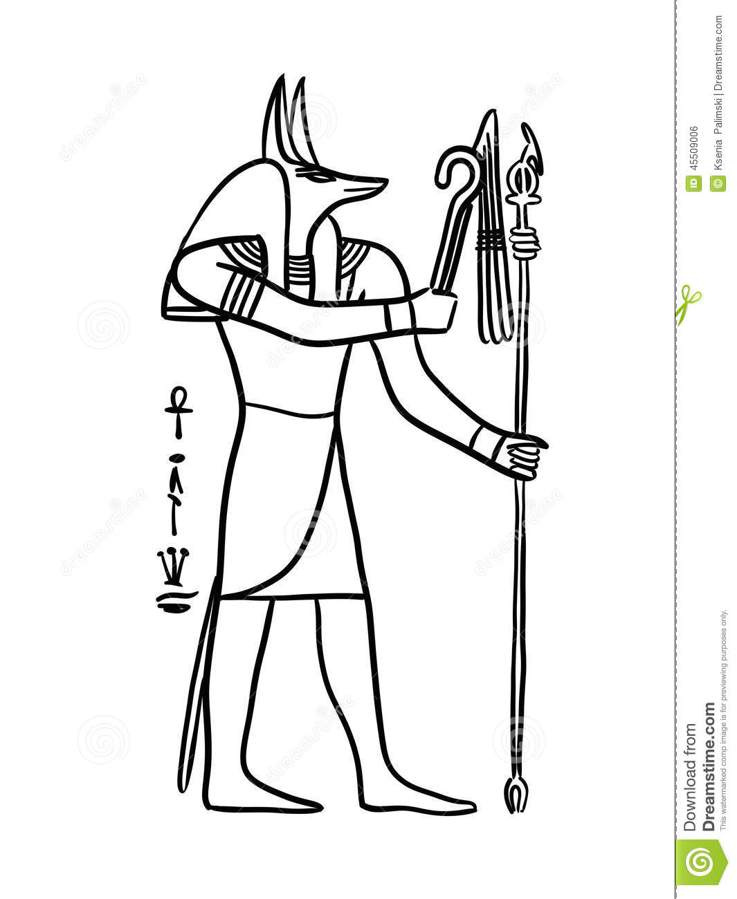 Anubis Stock Illustration Image 45509006