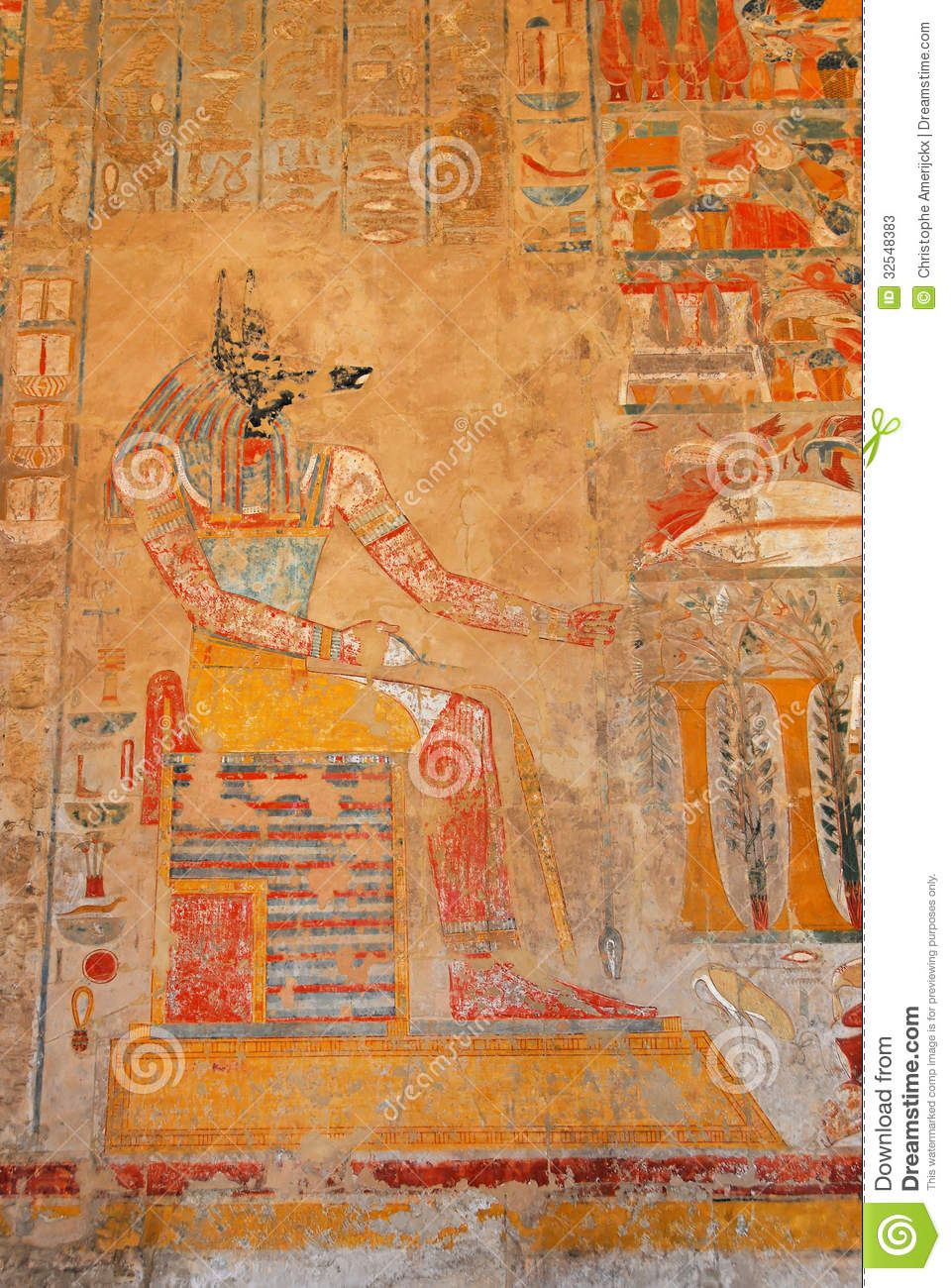 Anubis In The Hatshepsut Temple Stock Photos - Image: 32548383