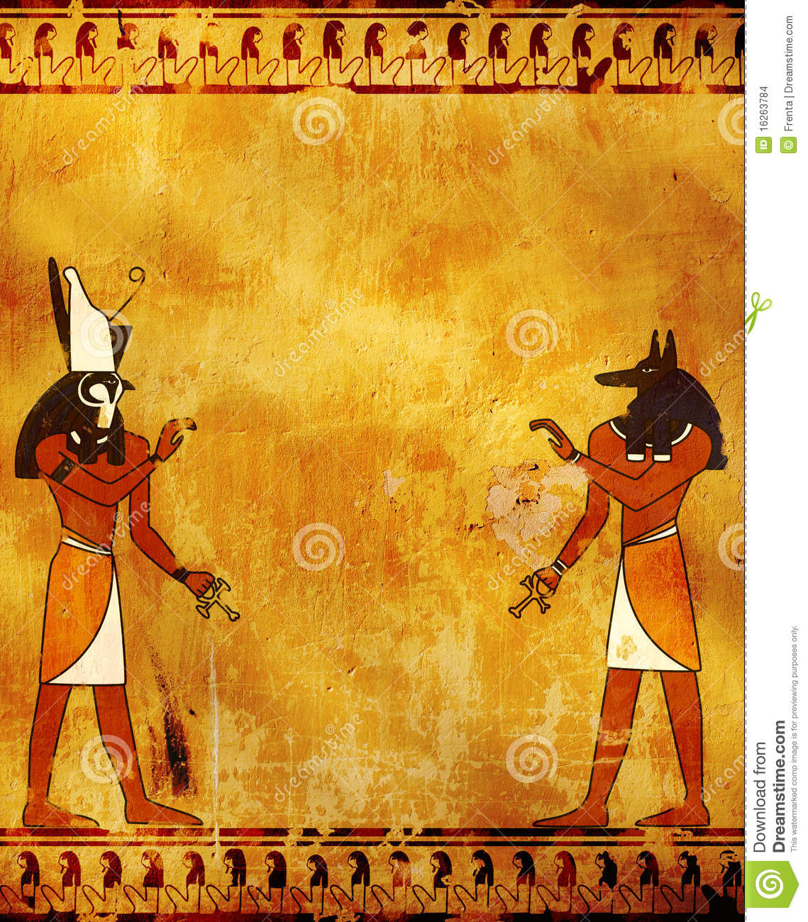 Anubis and Horus stock illustration  Illustration of history
