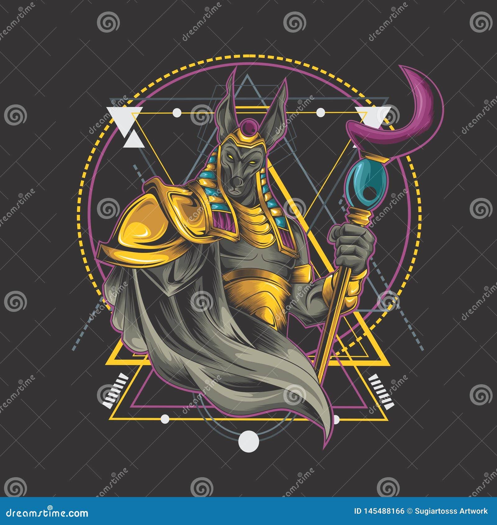 Anubis ritual on geometry