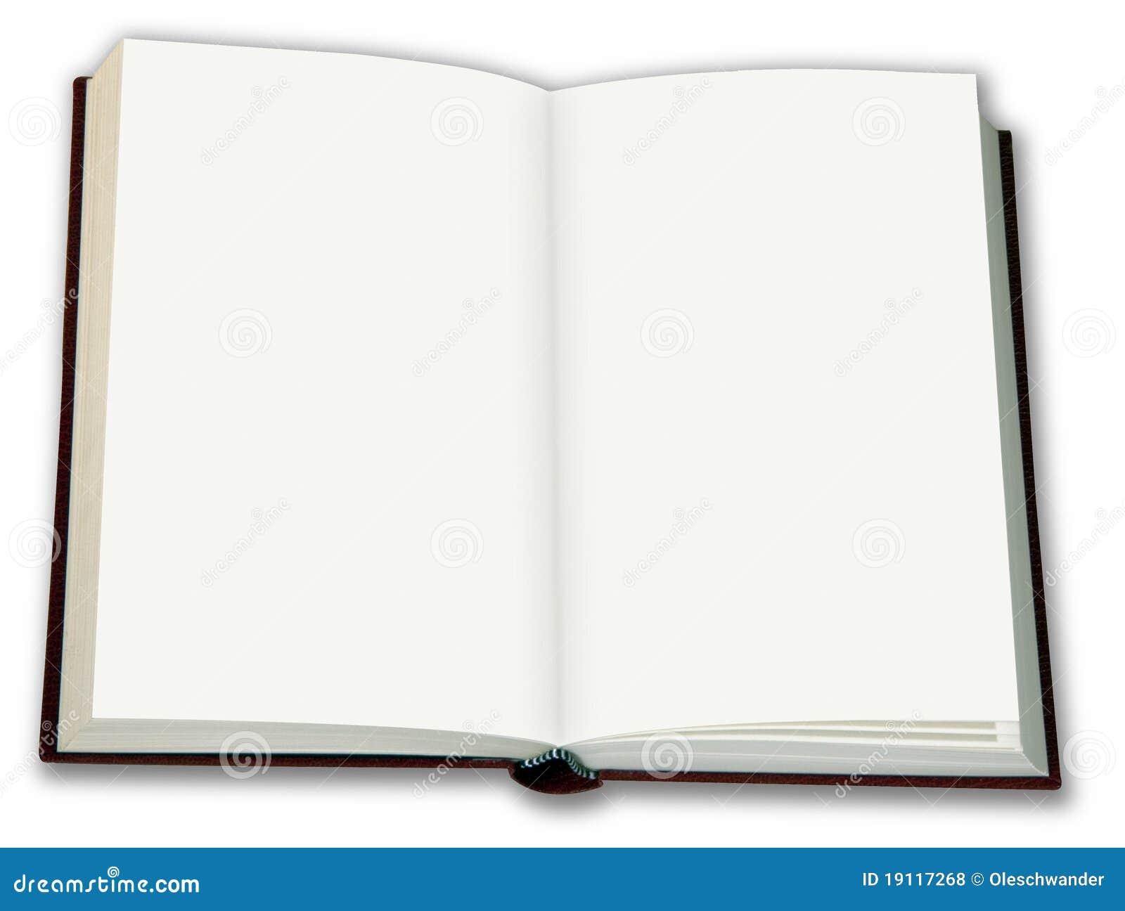Anule O Livro Aberto Isolado No Branco Fotos de Stock Royalty Free - Imagem: 19117268
