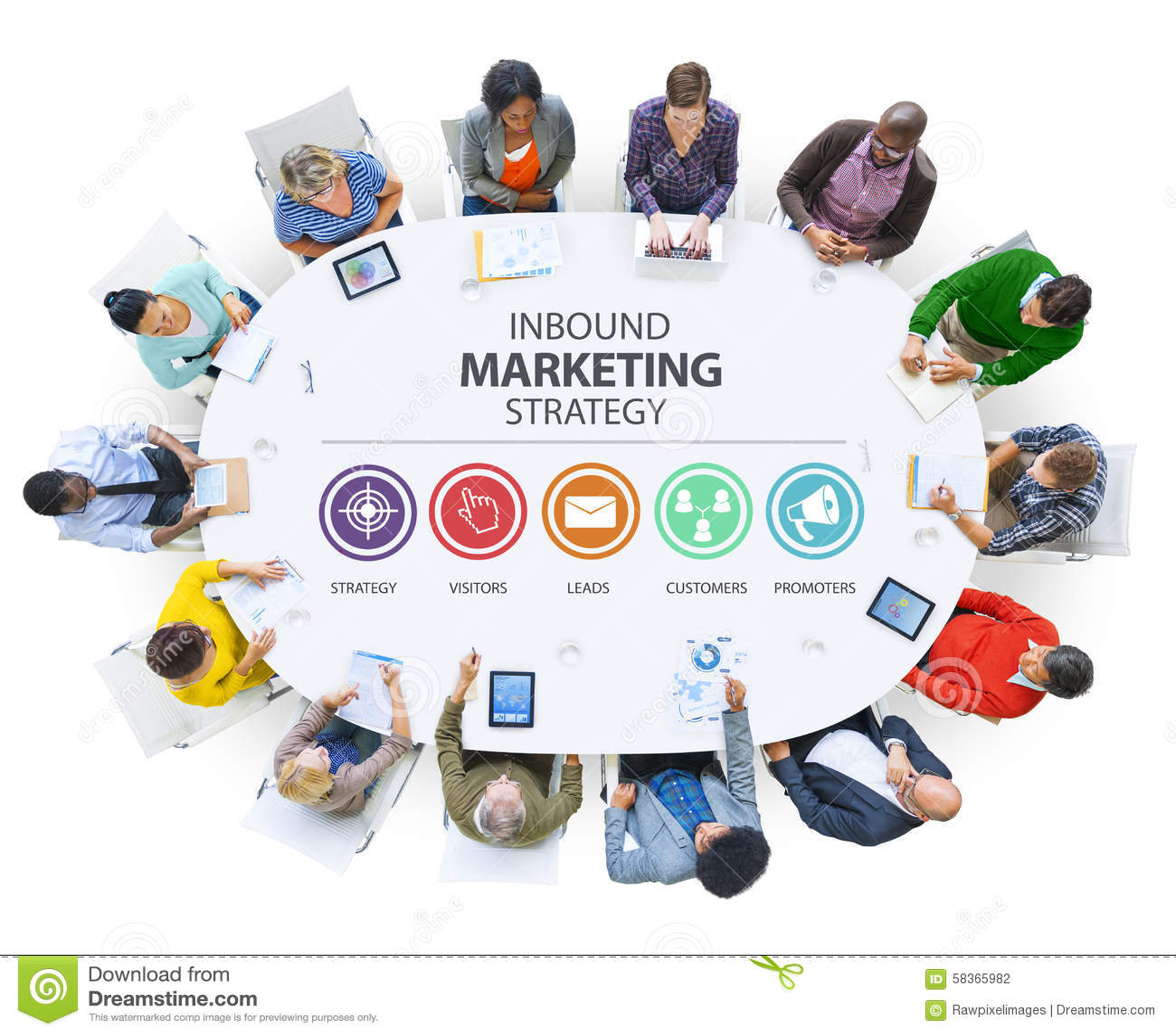 Anuncio de entrada Co de marcado en caliente comercial de la estrategia de marketing