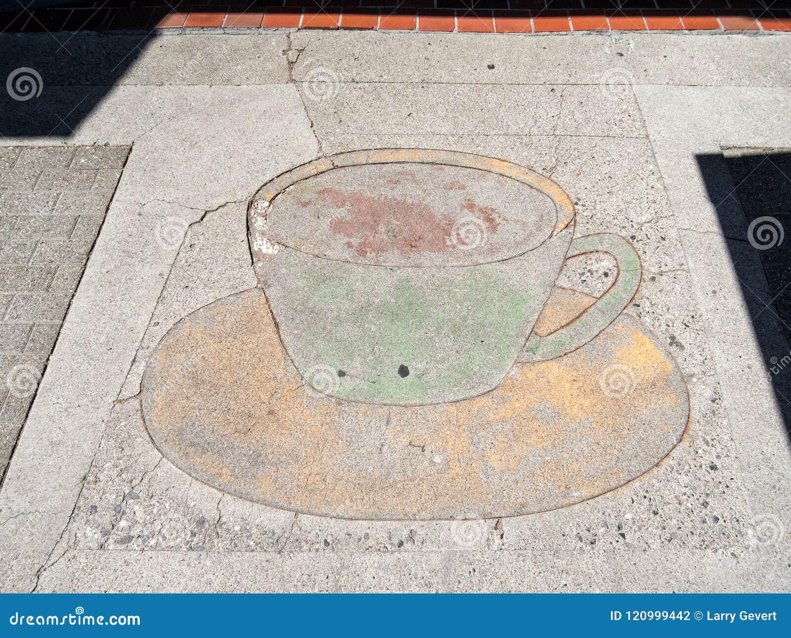 Anuncio de la acera de la cafetería