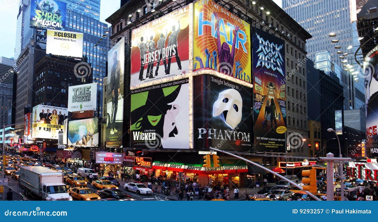 Anuncios de la demostración de Broadway