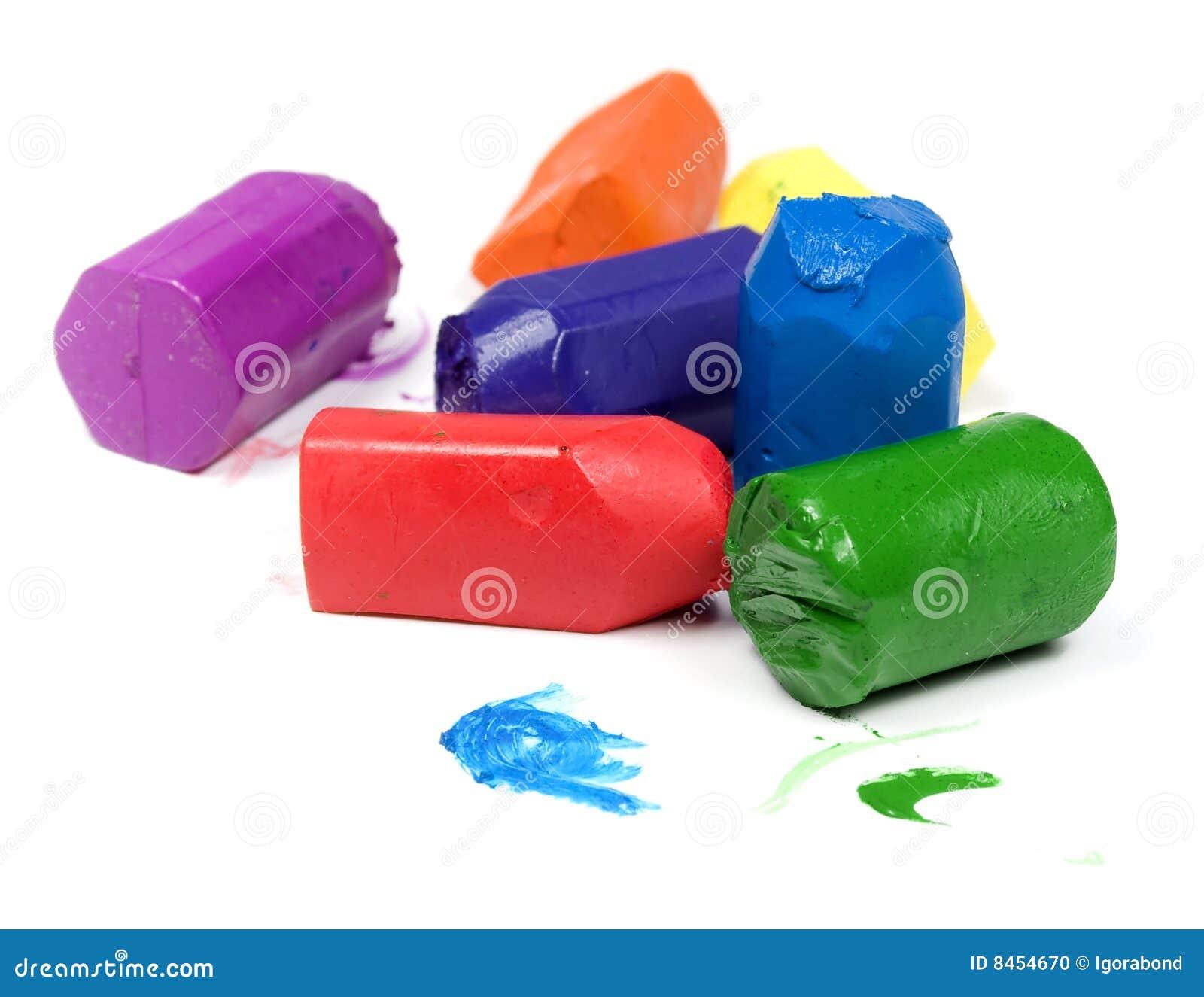 Använd wax för crayons sju