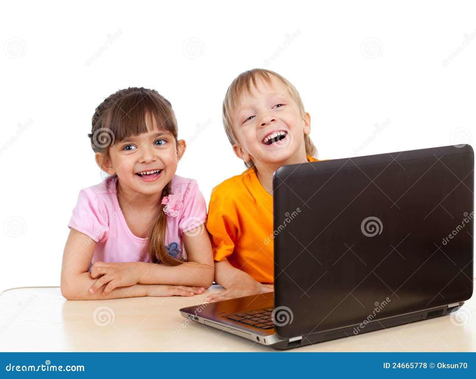 Använda för bärbar dator för barn roligt