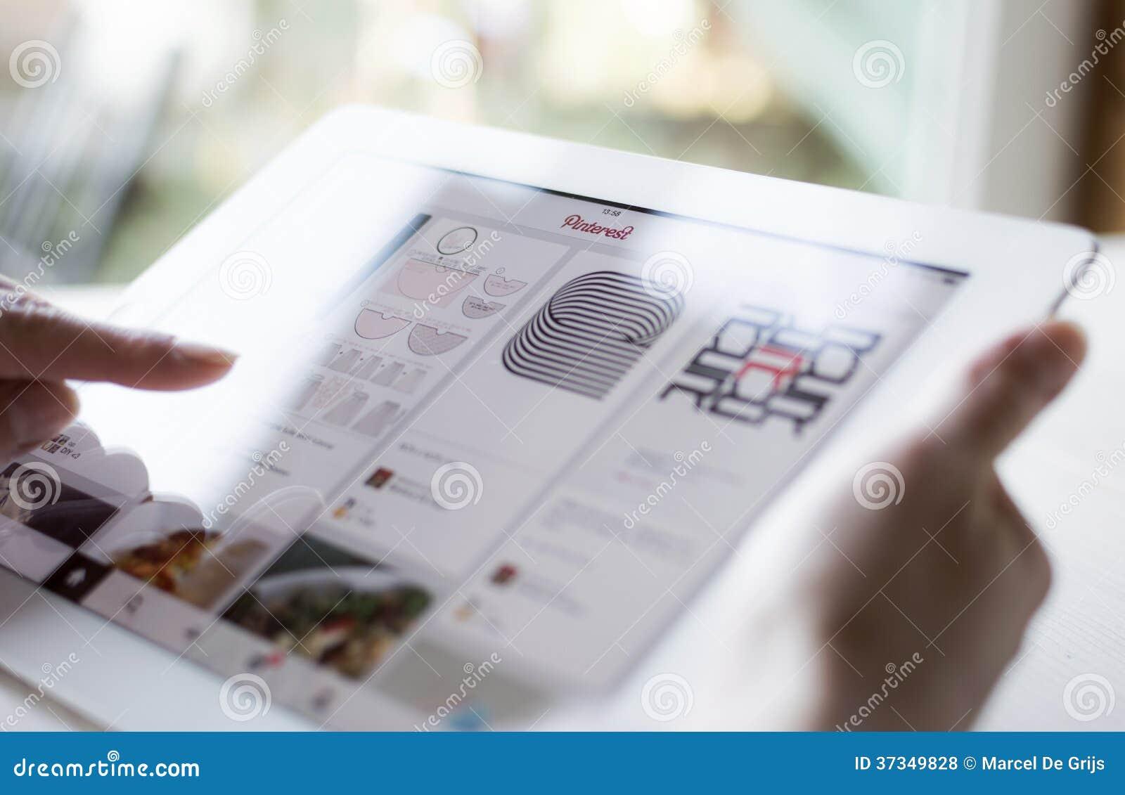 Använda Pinterest på iPad