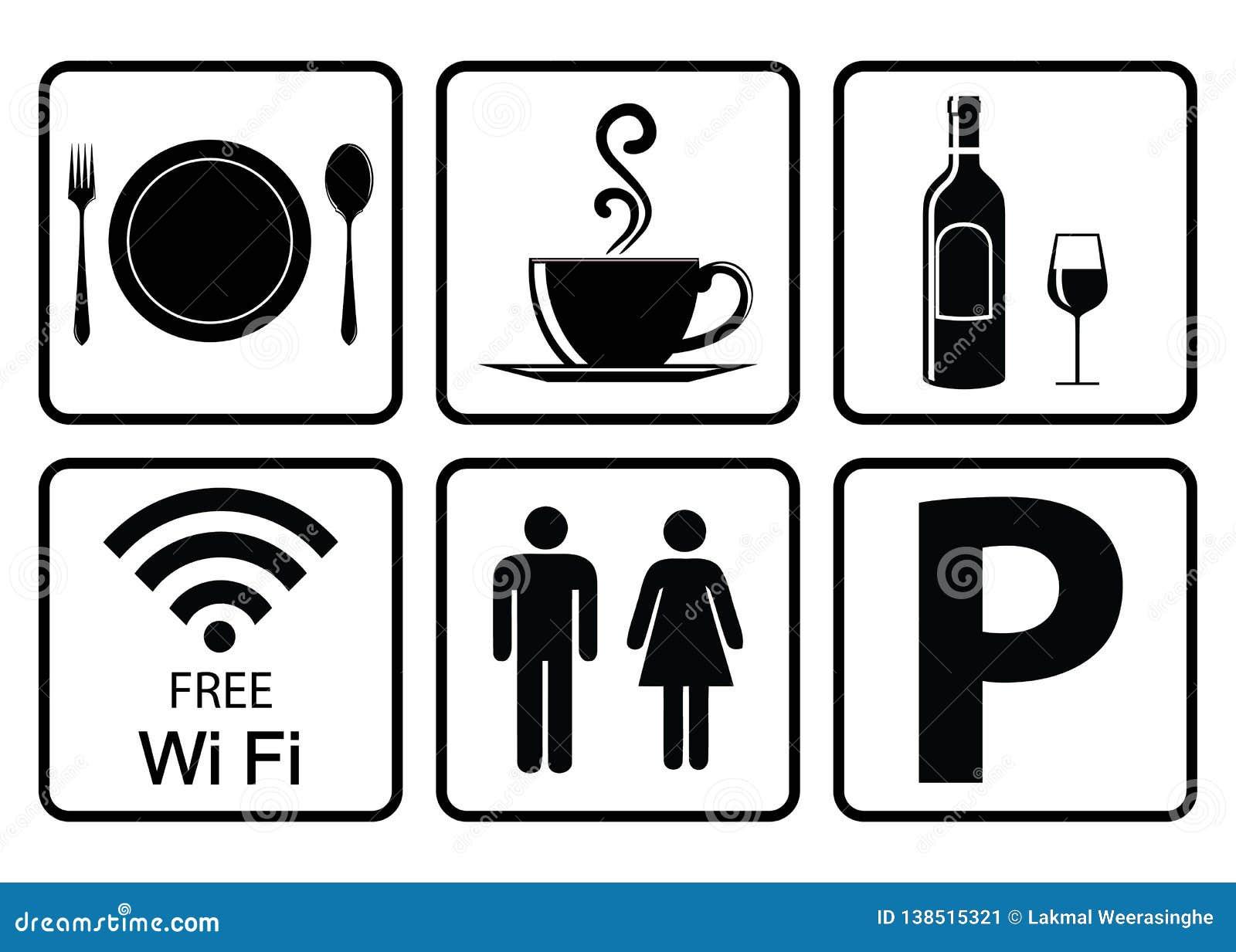 Användbar symbol för restaurang