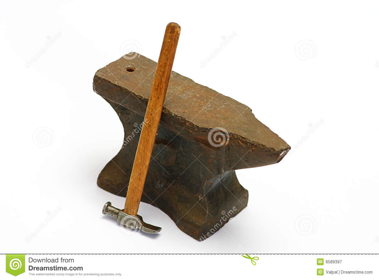 Anvil And Hammer Royalty Free Stock Photography - Image: 6589397