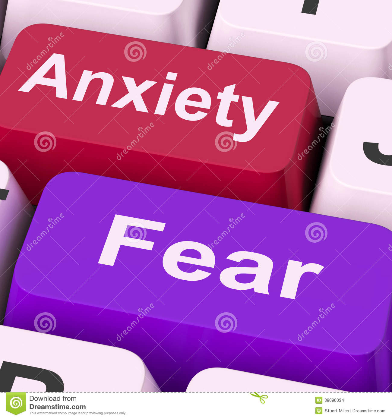 Anxieties Phobias: Fear Means Face Everything And Rise Royalty-Free Stock