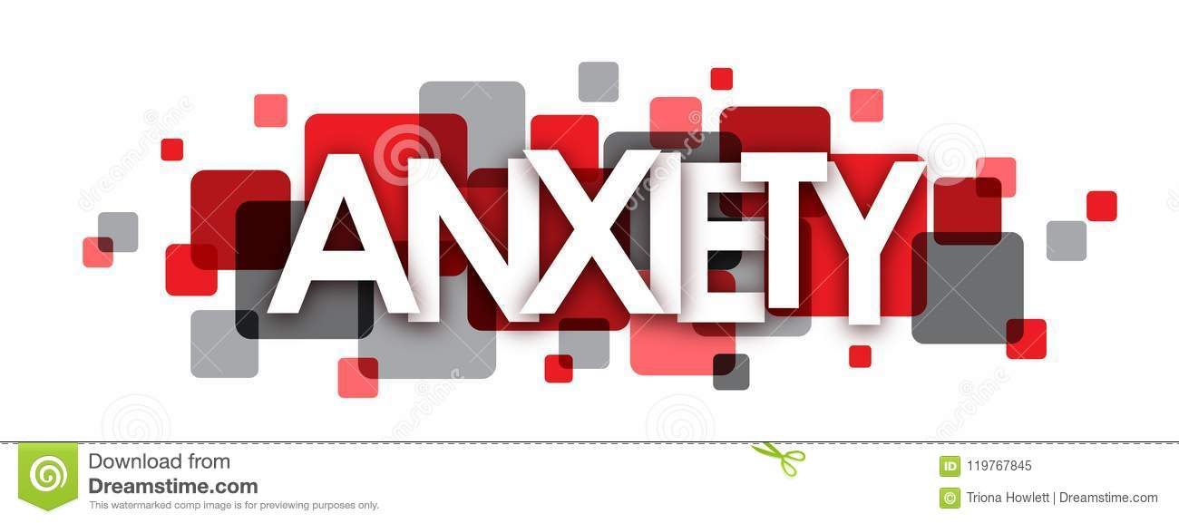 Anxiety Red And Grey Overlapping Squares Banner Stock Illustration Illustration Of Mood Strategy 119767845