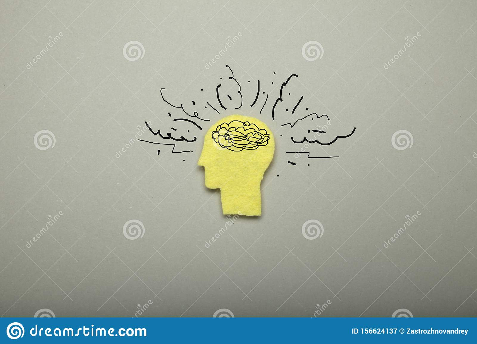 Anxiety Stress In Brain Overload In Mind Depression Adhd Ocd Stock Image Image Of Problem Clutter