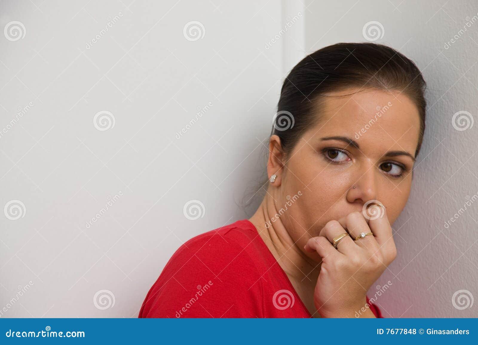 Anxious woman symbol of violence in the family stock photo image royalty free stock photo buycottarizona Choice Image