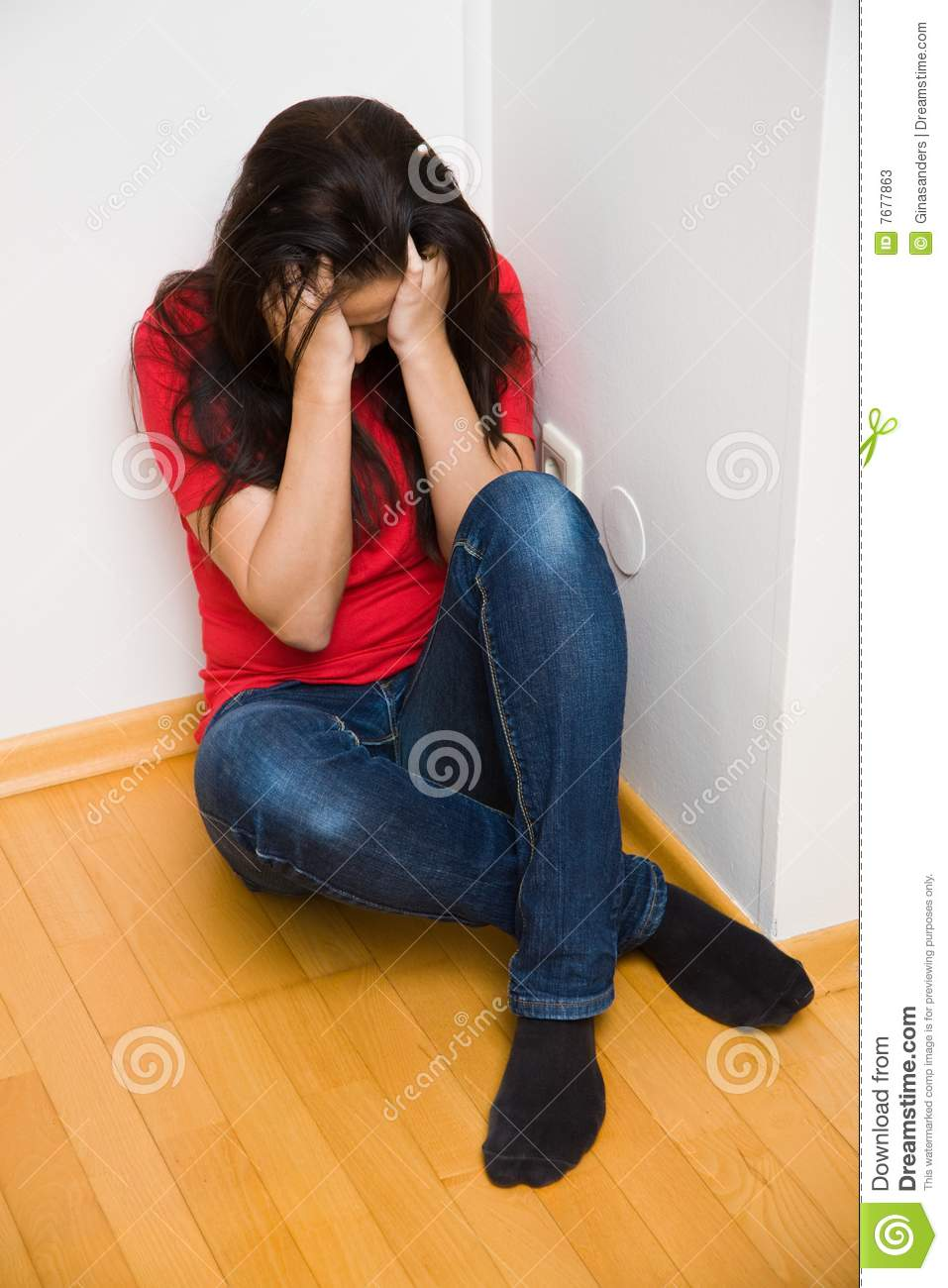 Anxious woman symbol of violence in the family stock image image anxious woman symbol of violence in the family buycottarizona Choice Image