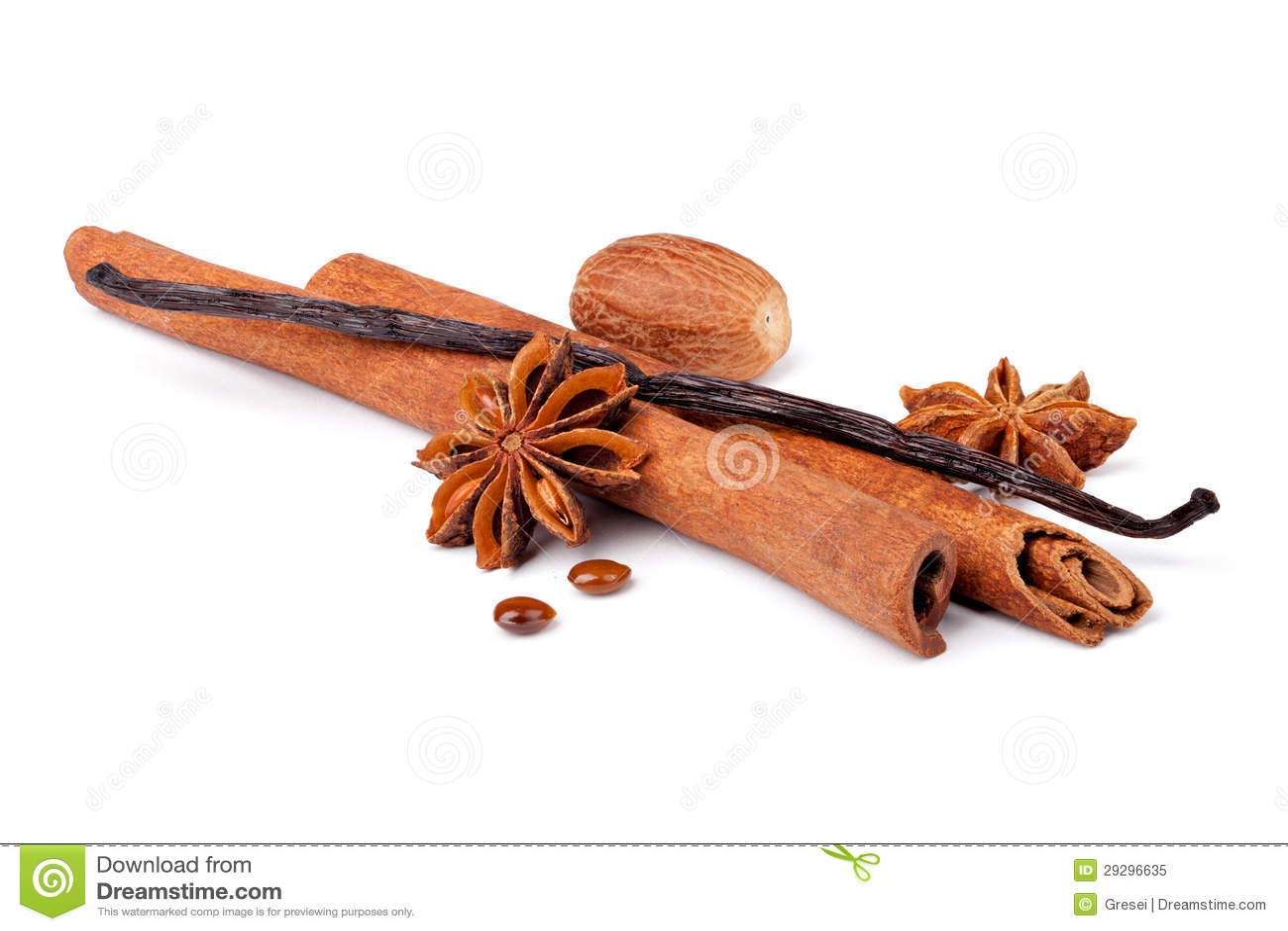 Anyżu, cynamonu i wanilii strąki,