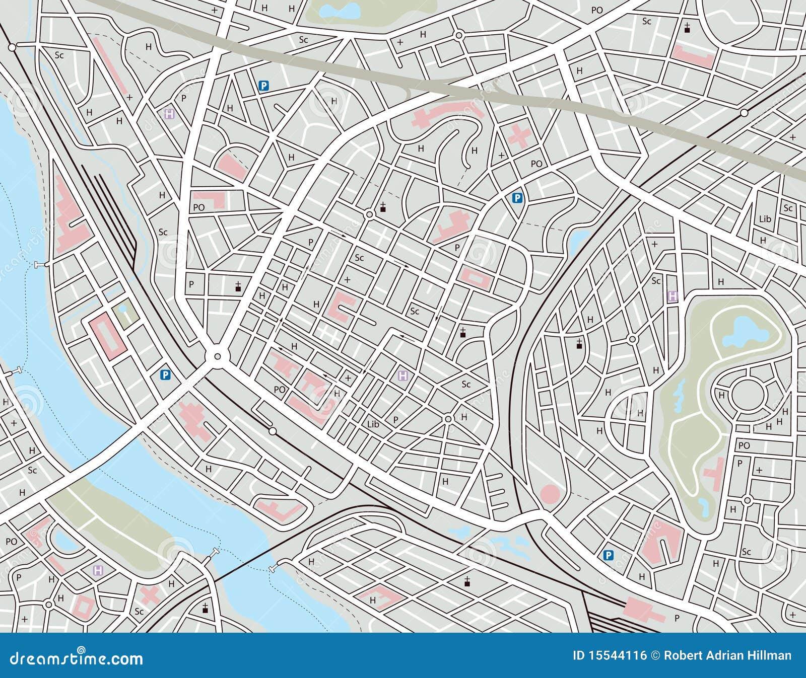 Any City Map Royalty Free Stock Image
