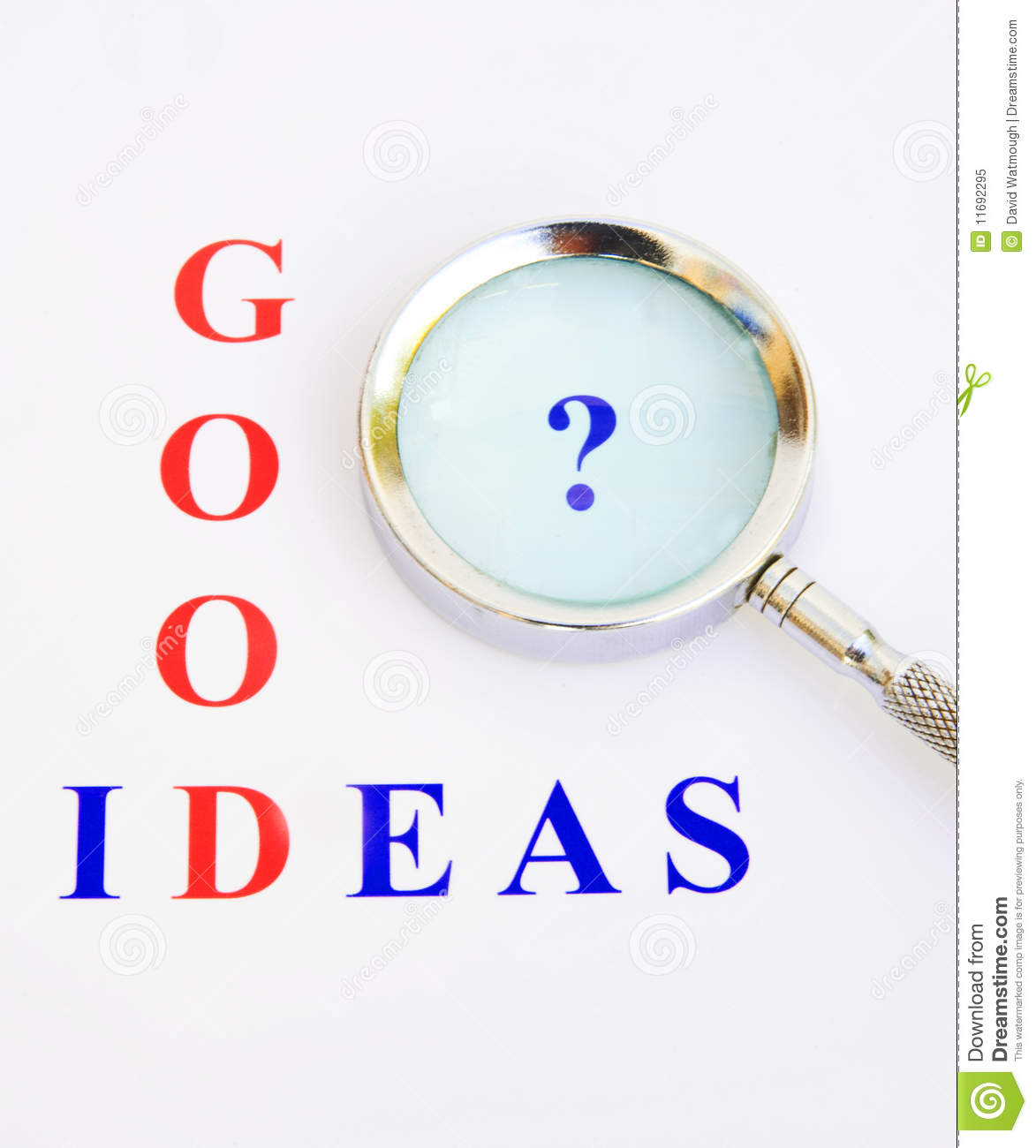 Good Picture Ideas: Any Good Ideas ? Royalty Free Stock Photo