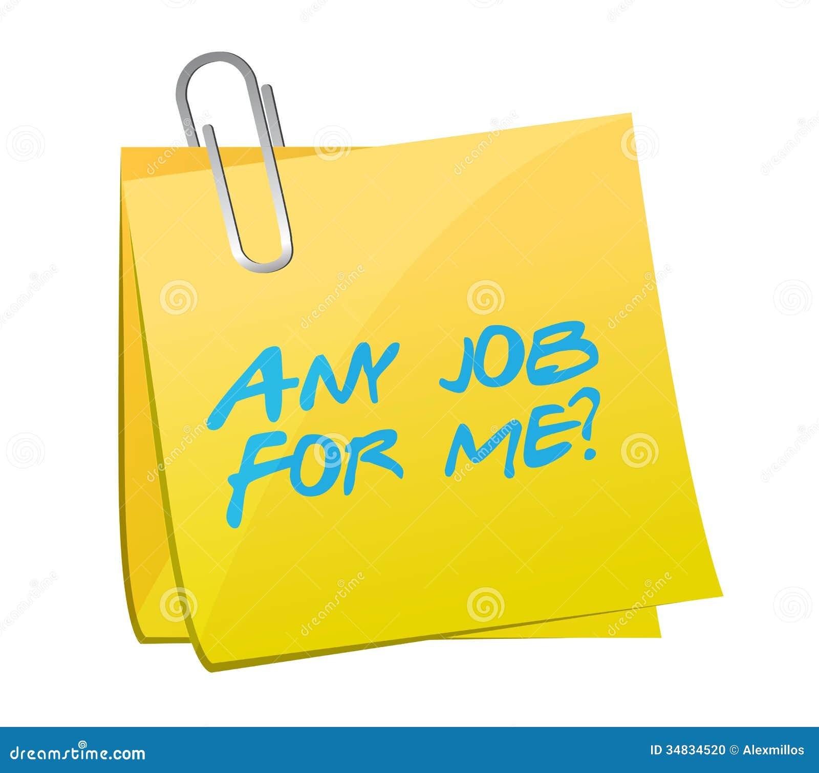 any job for me post illustration design stock illustration