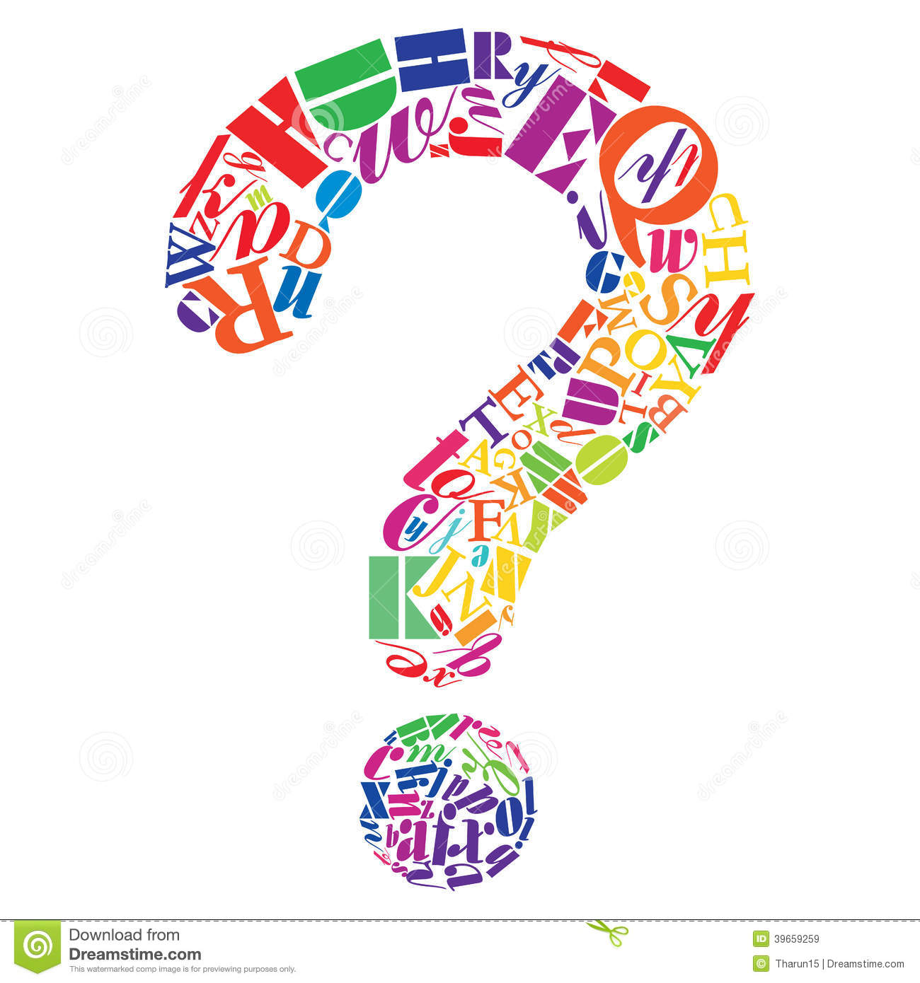Any Questions Stock Illustration - Image: 39659259