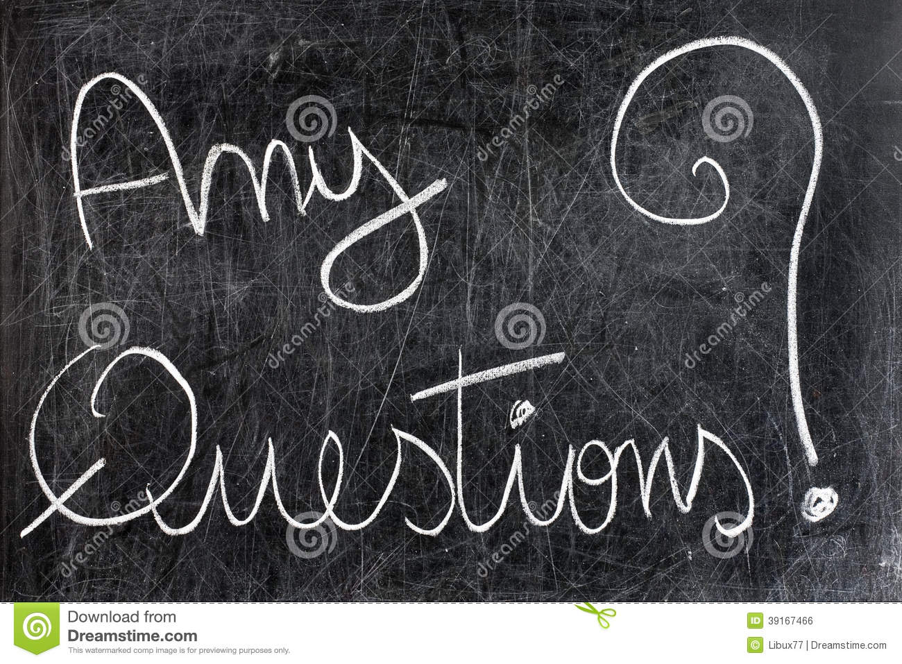 Any Questions Animation Any Questions on Chalkboard