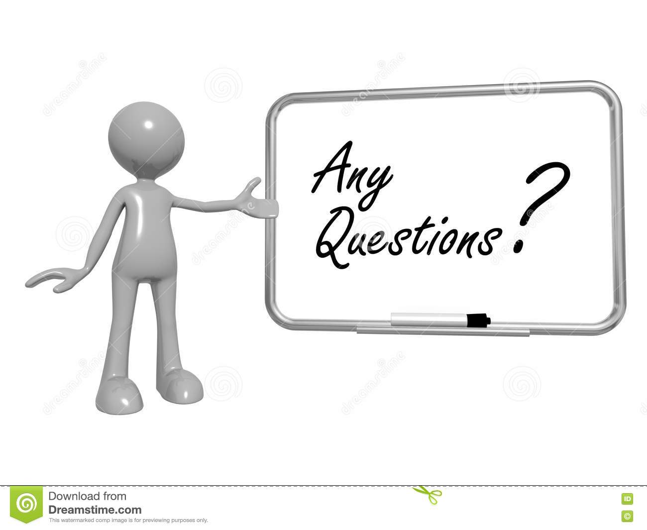 Any questions sign