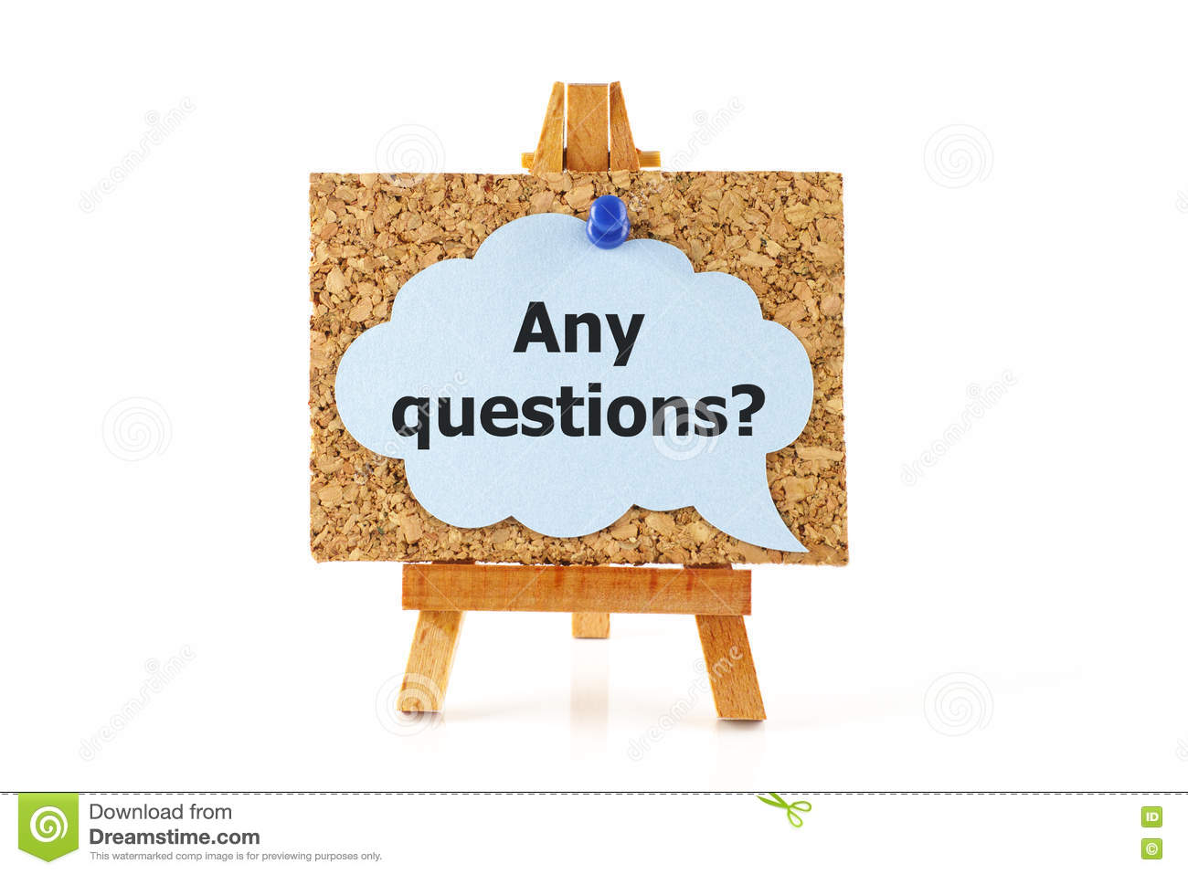 Any Questions Stock Image Image Of Blue Front Cork