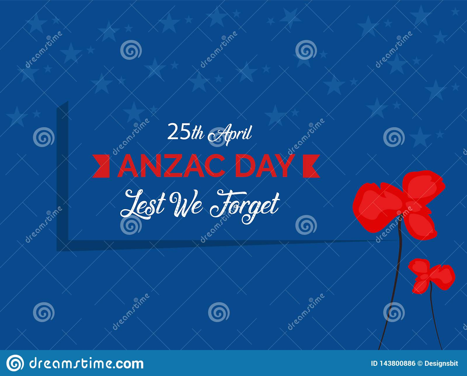 Anzac Day Australian War Remembrance-Dagaffiche