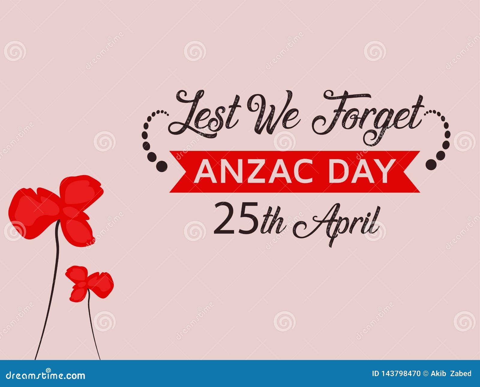 Anzac Day Illustration met de aardige rode achtergrond van de papaverbloem