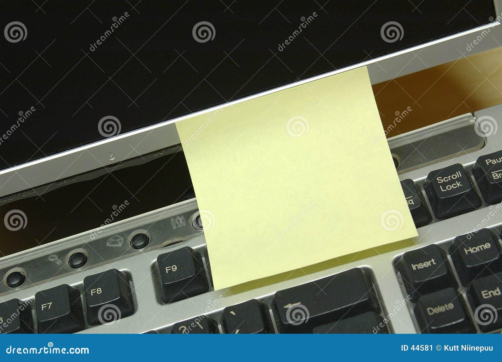 Download Anzeigenschablone stockbild. Bild von computer, meldung - 44581