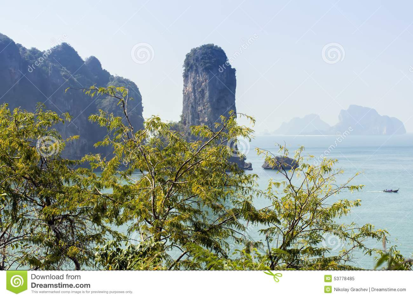 Aonang plaża Nabrzeżna linia